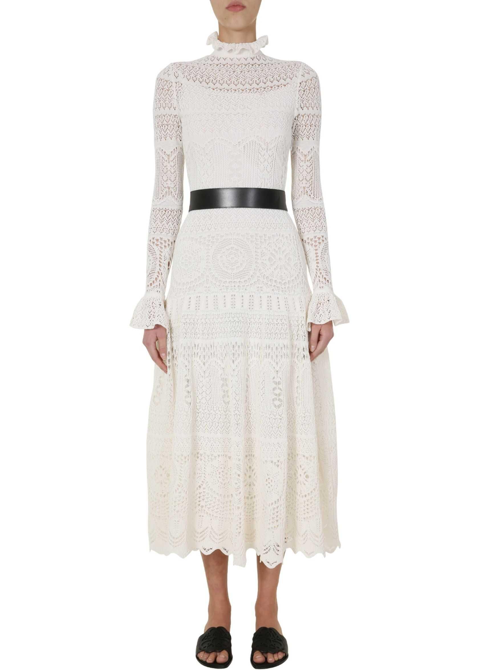 Alexander McQueen Knitted Dress WHITE