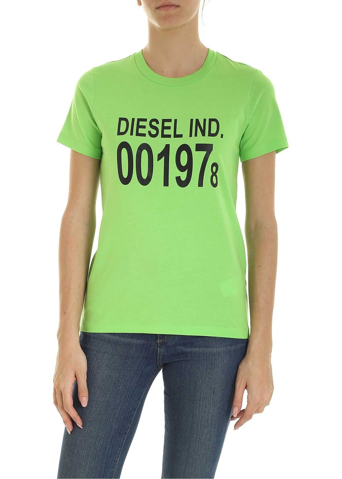 Diesel T-Sily T-Shirt In Green Green