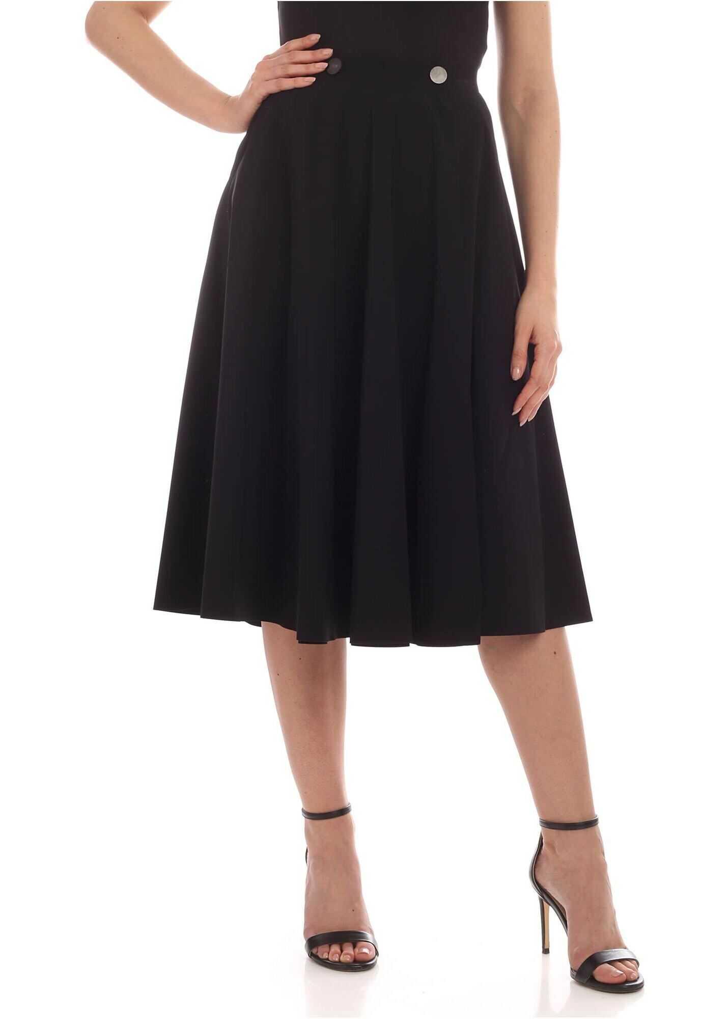Logo Asymmetric Skirt In Black thumbnail
