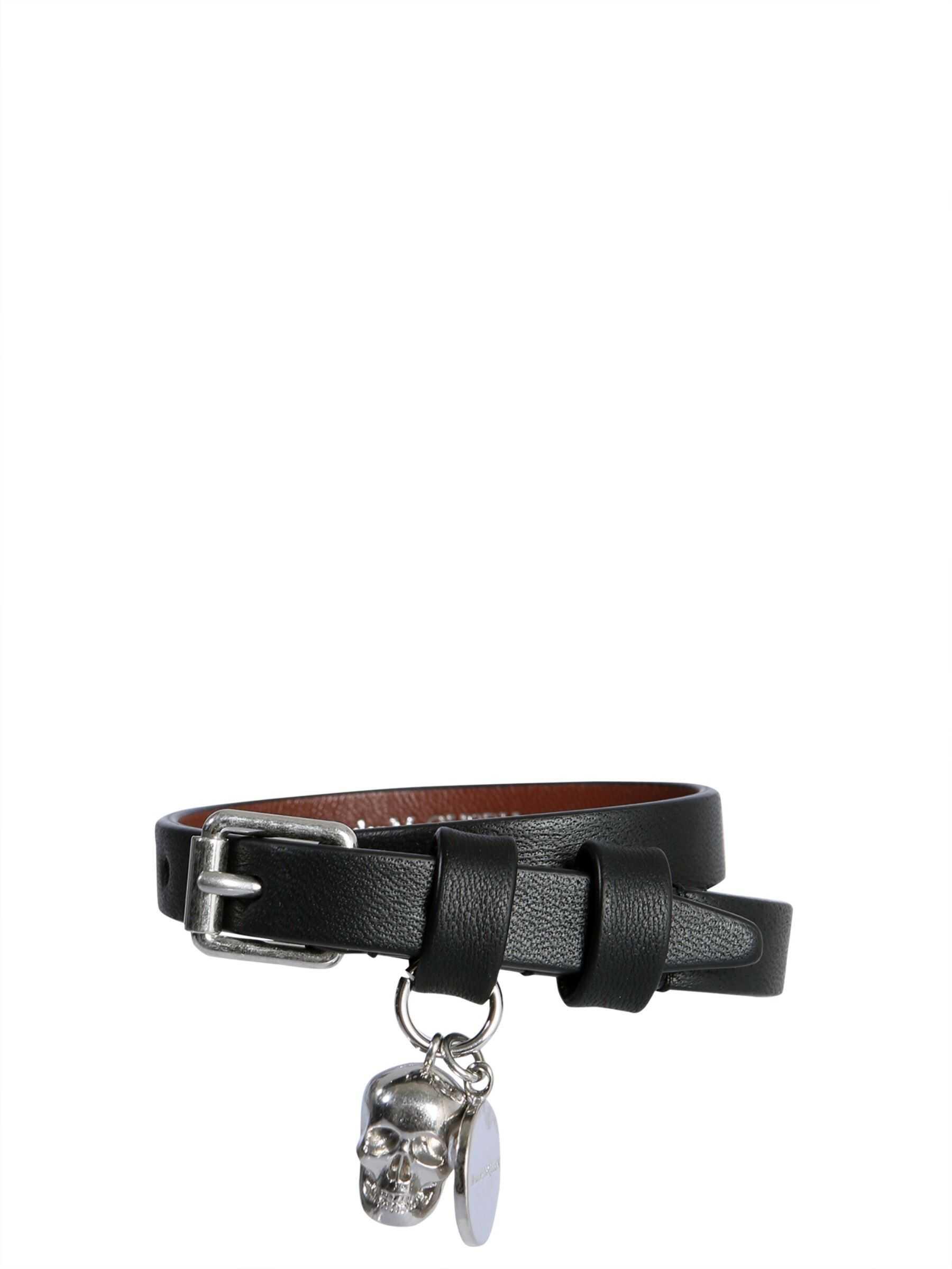 Alexander McQueen Double Turn Bracelet BLACK