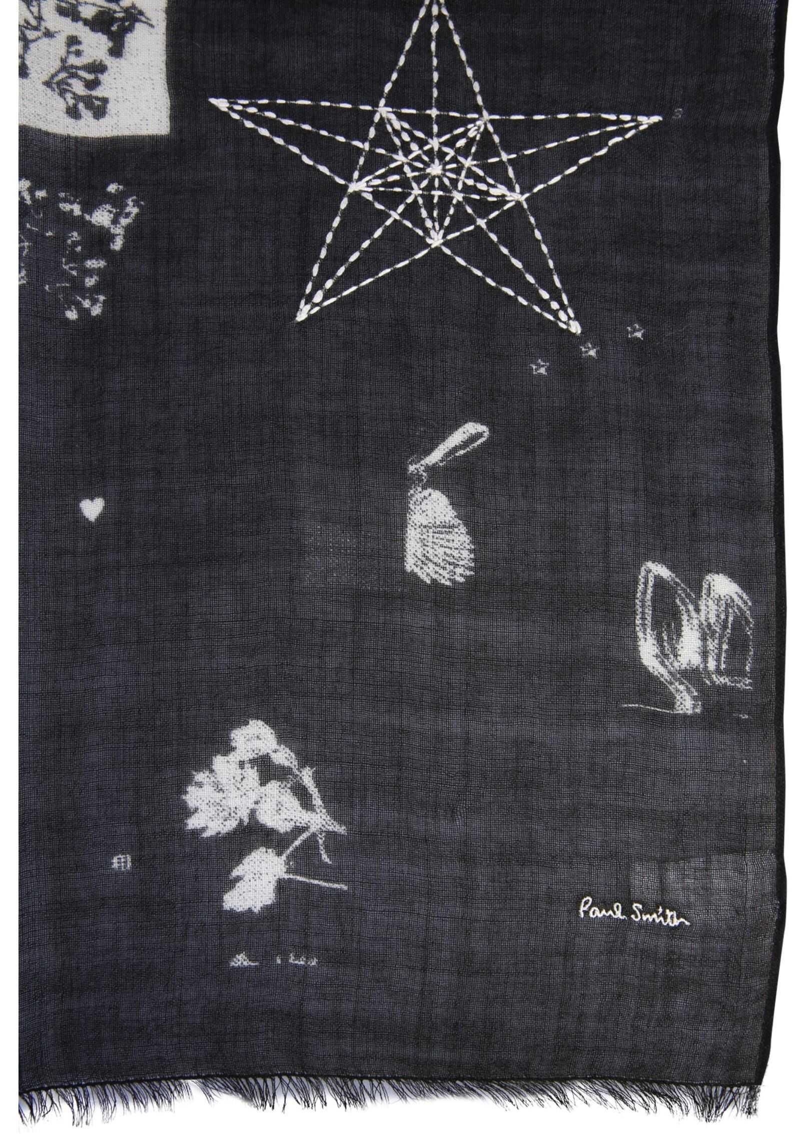 Paul Smith Scarf With Logo BLACK