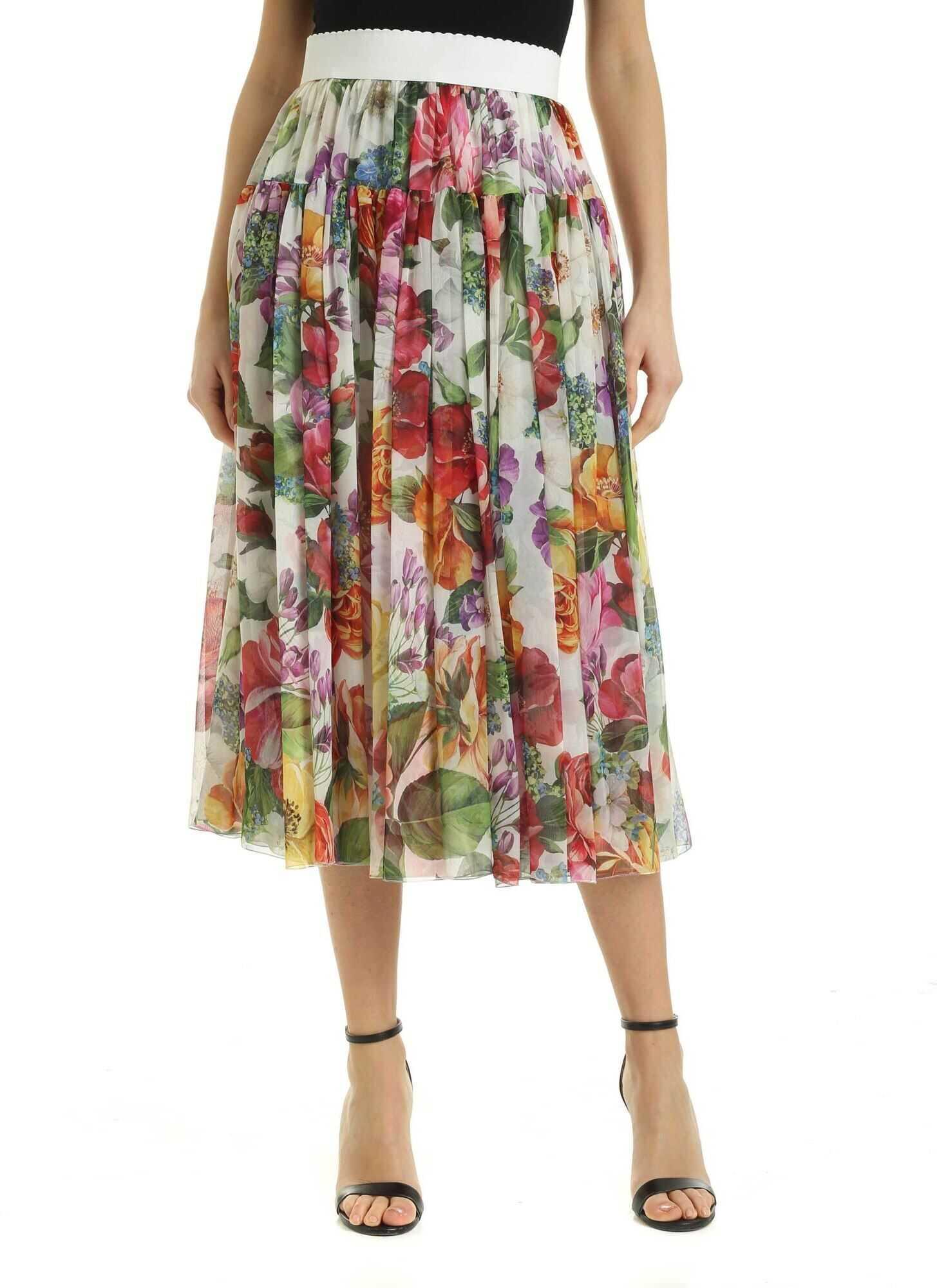 Flower Print Midi Skirt thumbnail