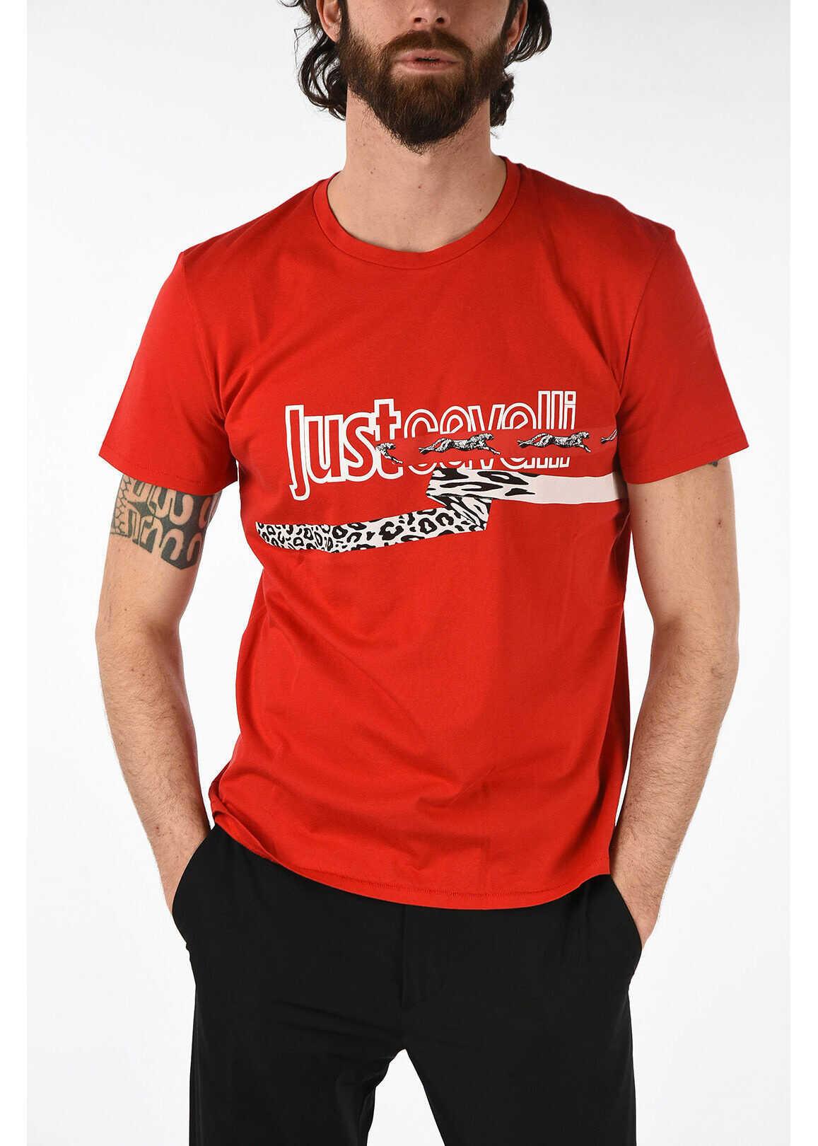 Just Cavalli Printed Crewneck T-shirt RED