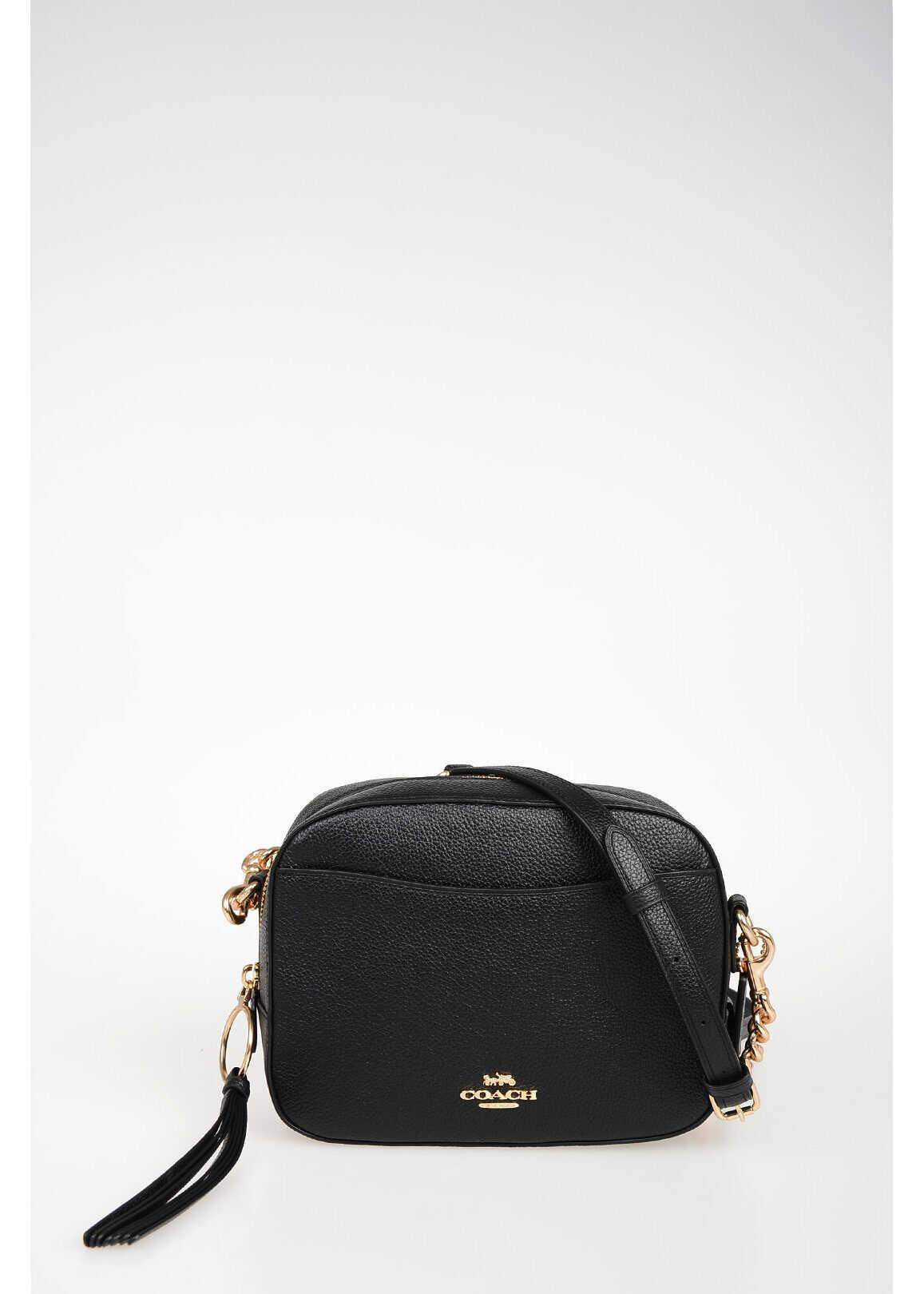 COACH Leather Camera Bag BLACK
