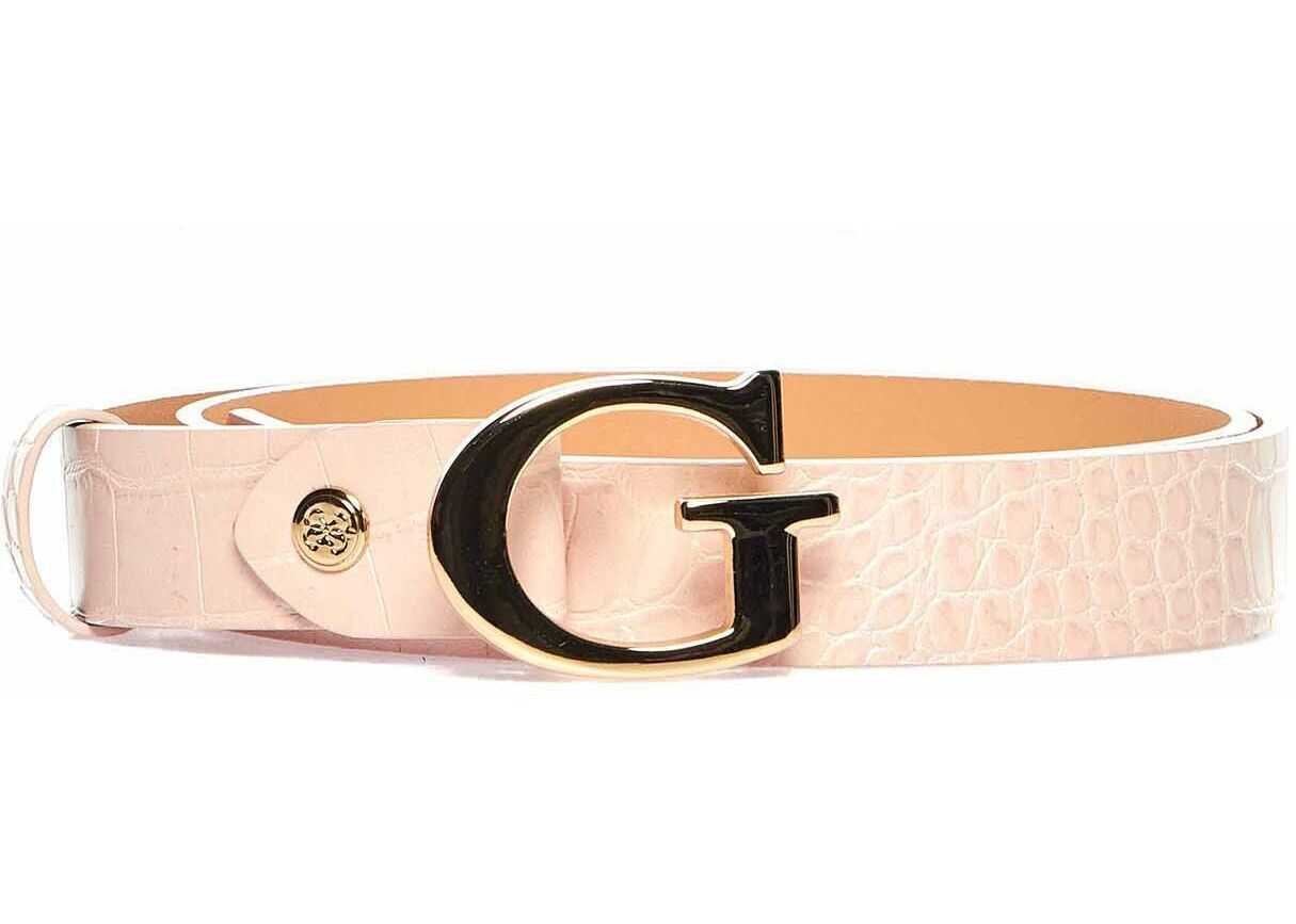 GUESS Belt in reptile look Rose