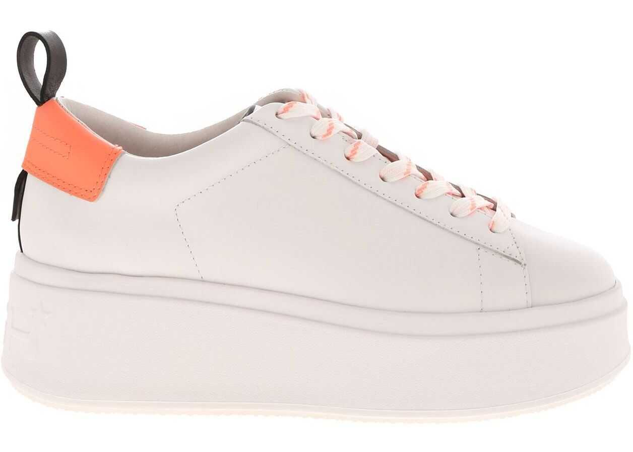 ASH Moon White Sneakers With Pop Details White
