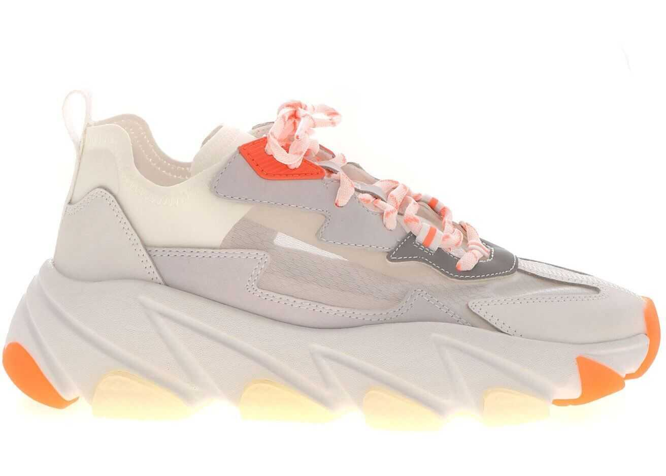 ASH Eclipse Bis Sneakers Grey And Orange White