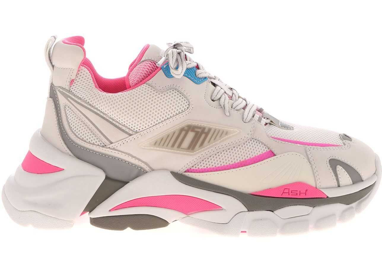 Flex Sneakers In White And Pink thumbnail