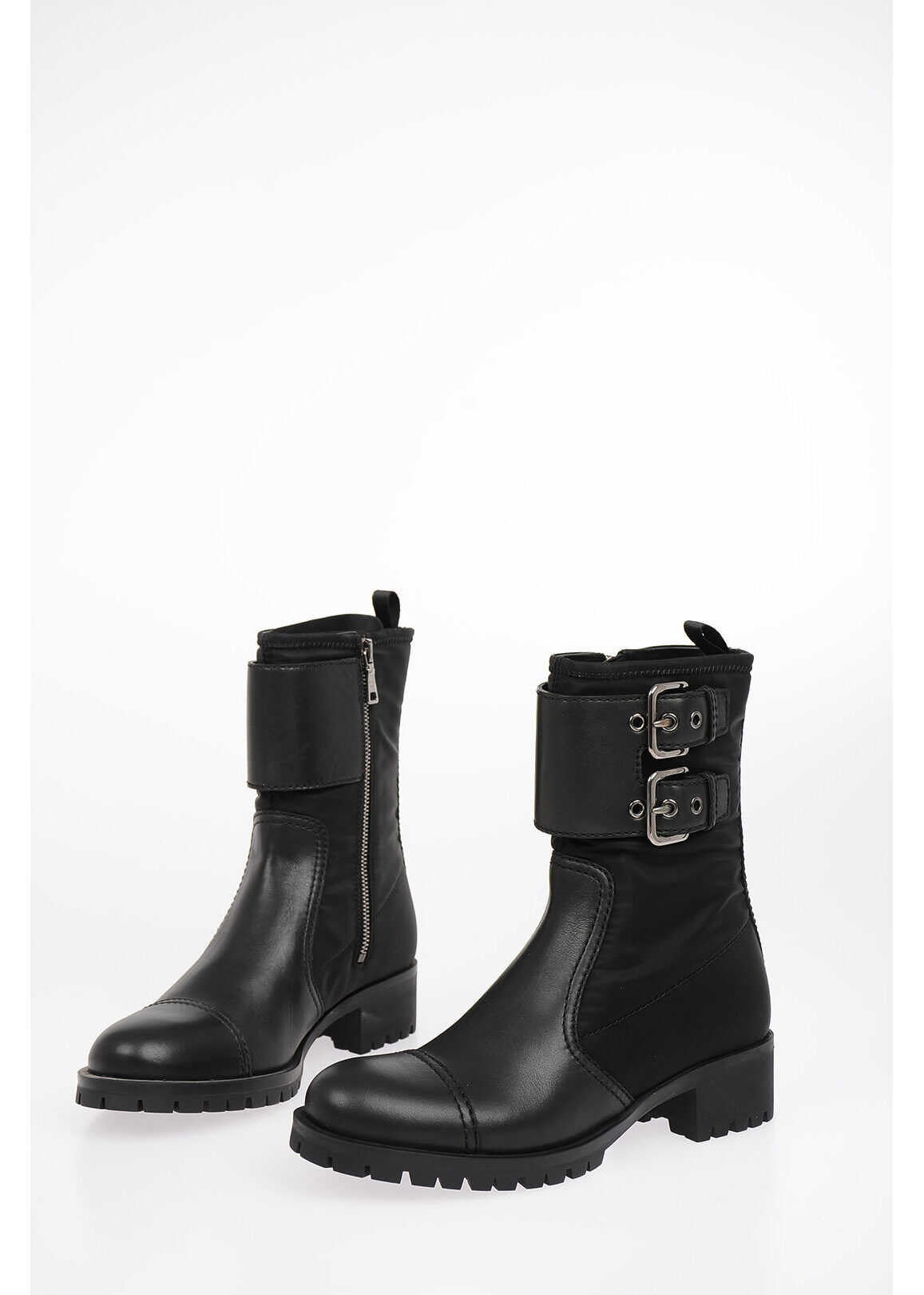 Prada 4 cm Biker Boots BLACK