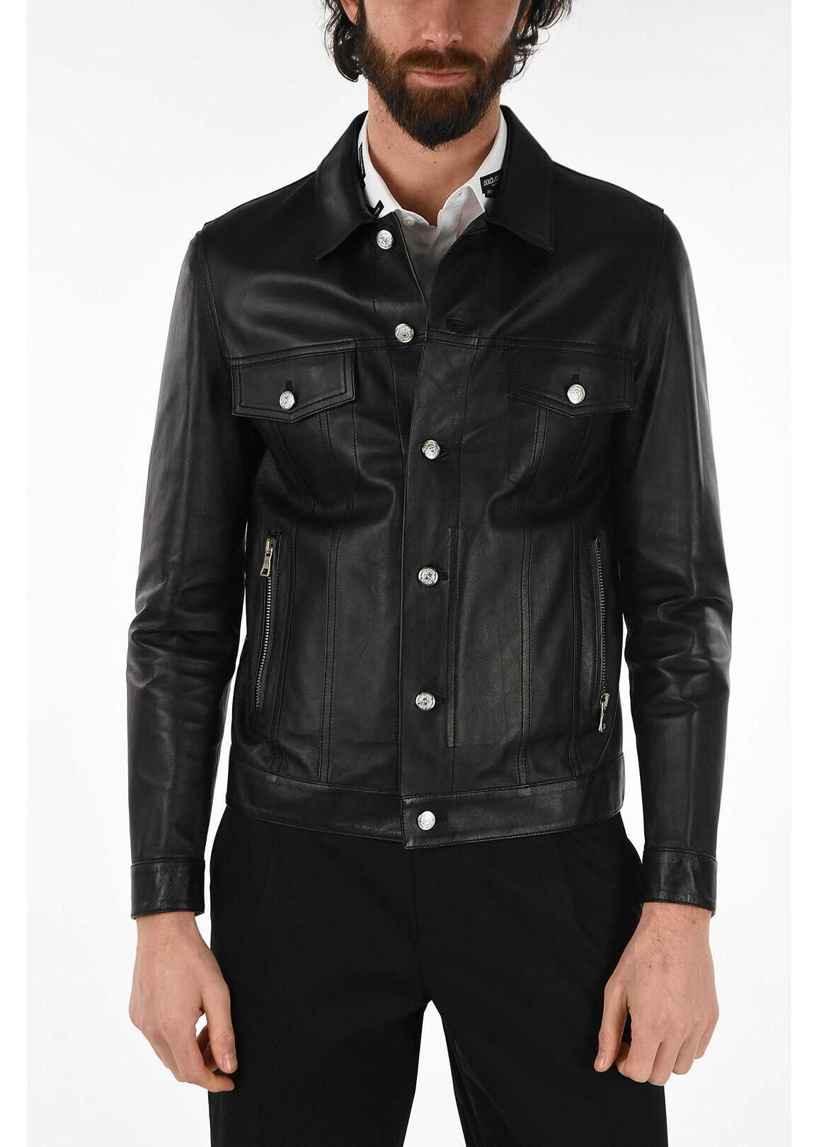 Balmain leather blouson BLACK