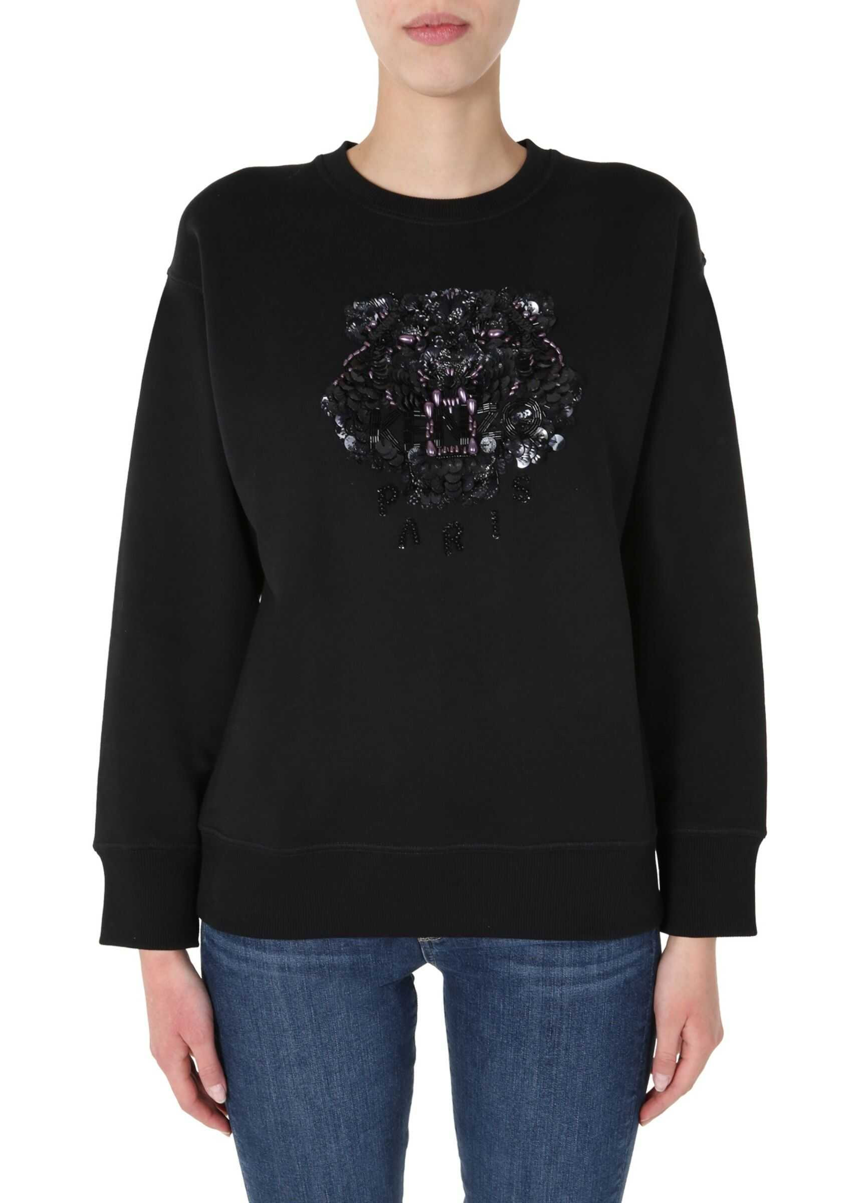 Kenzo Round Neck Sweatshirt BLACK