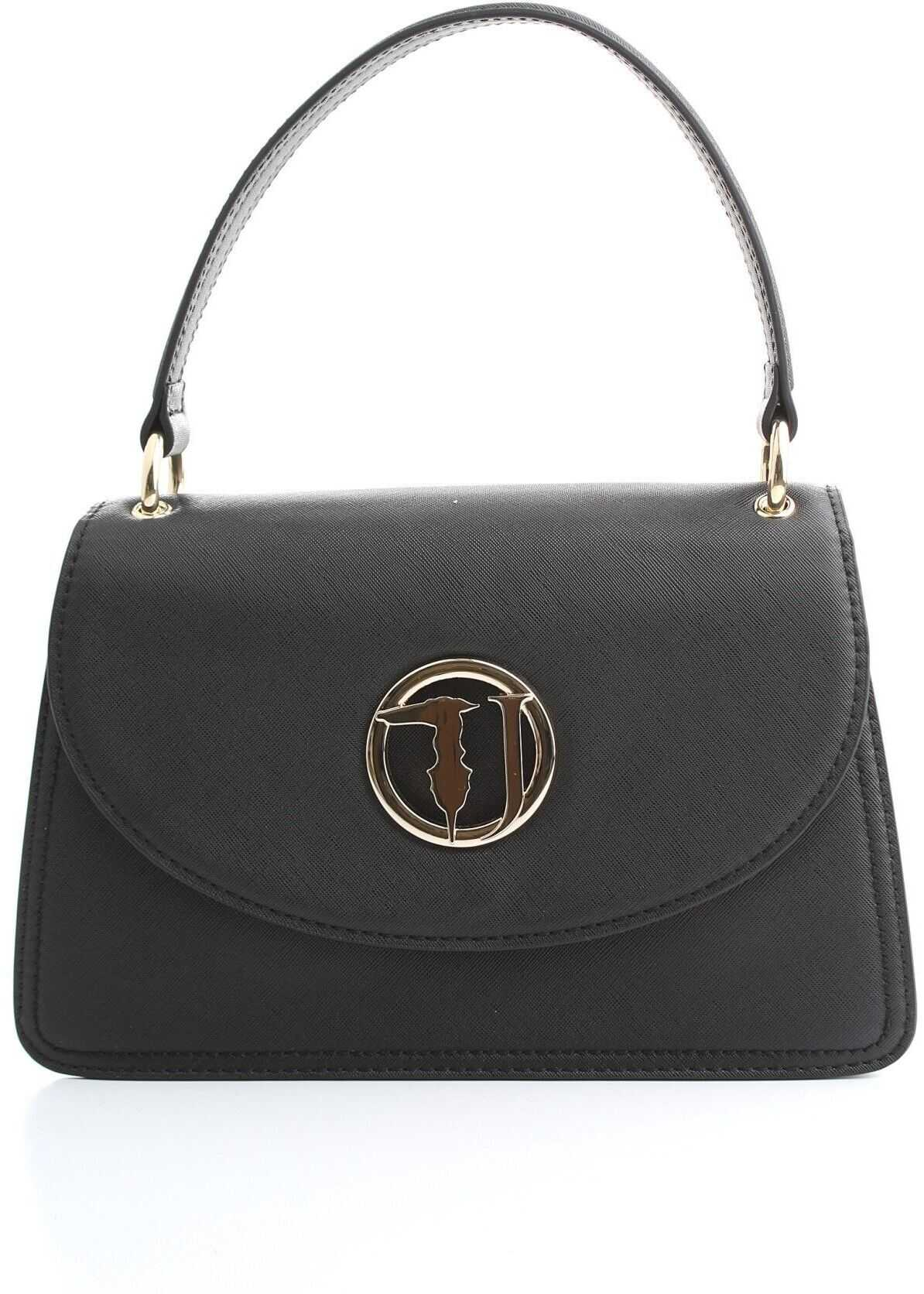 Trussardi Faux Leather Handbag BLACK