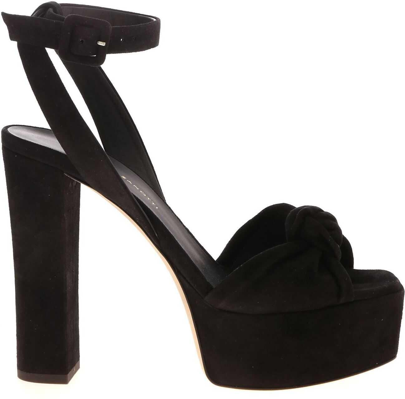 Giuseppe Zanotti Betty Open Toe Sandals In Black Black