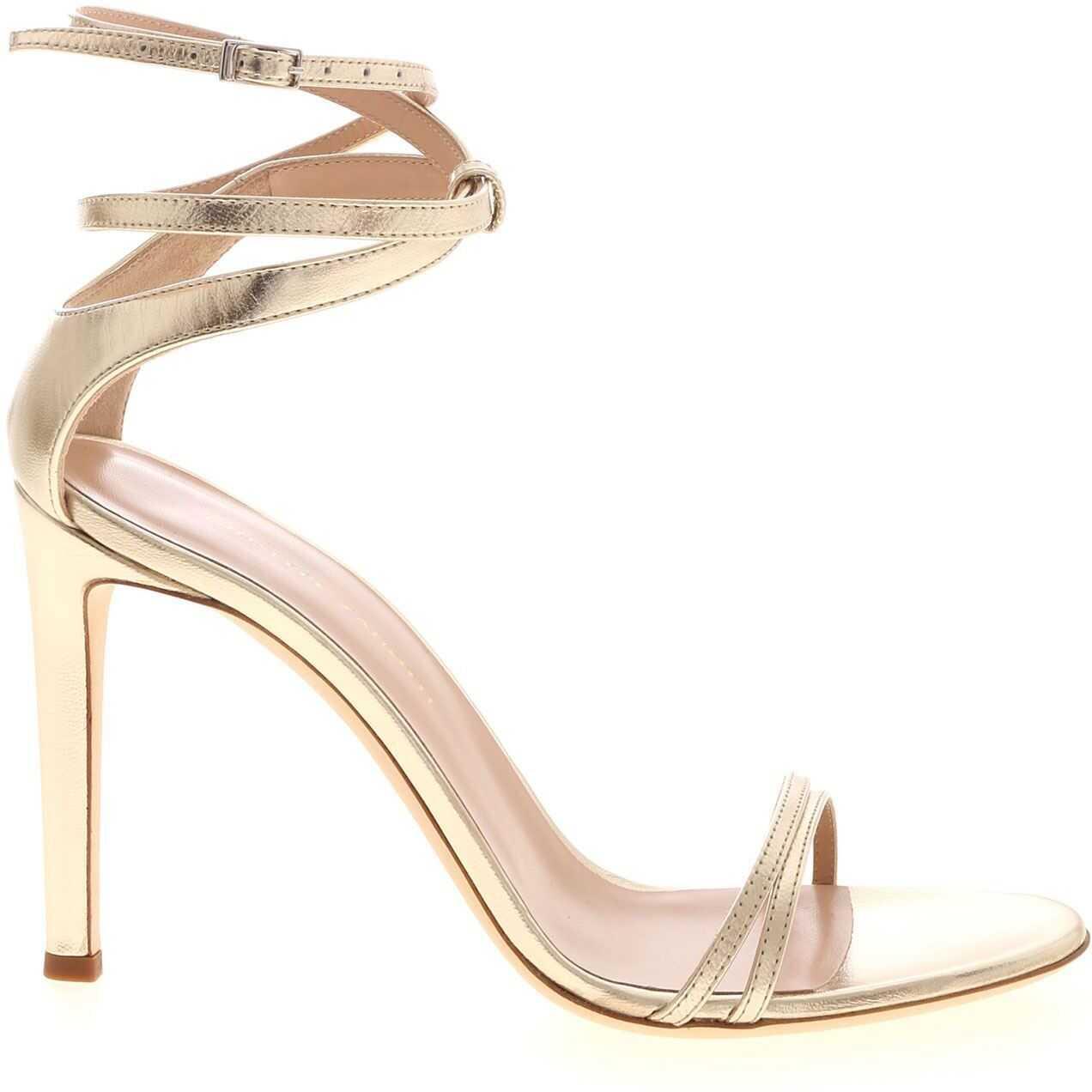 Giuseppe Zanotti Catia Sandals In Platinum Color Gold