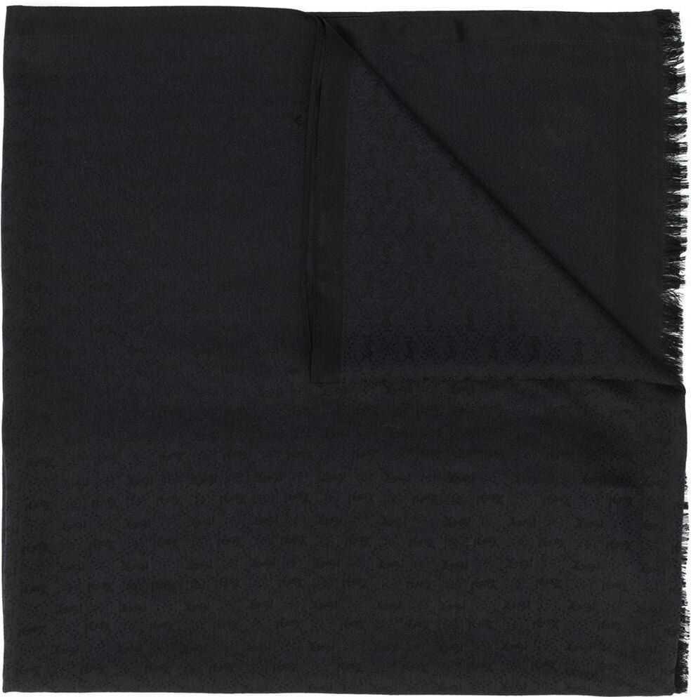 Saint Laurent Silk Scarf BLACK