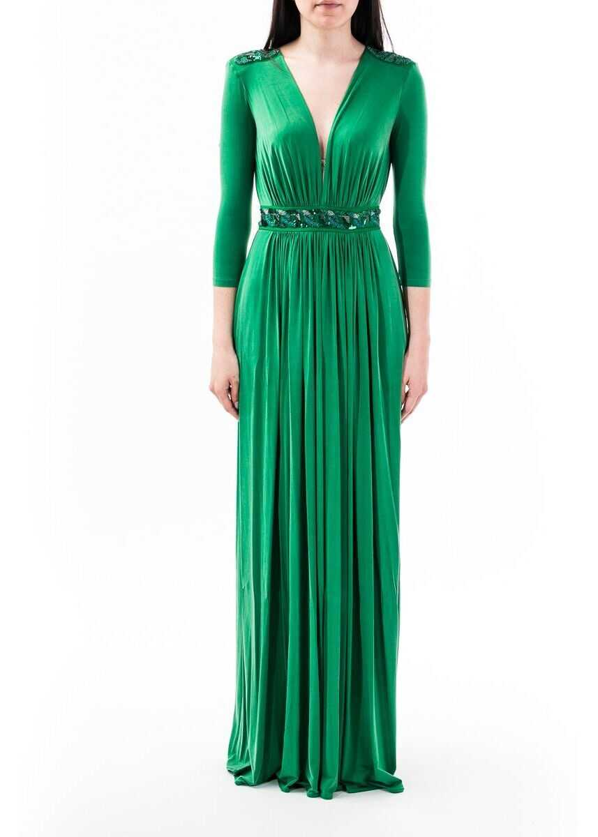 Elisabetta Franchi Viscose Dress GREEN