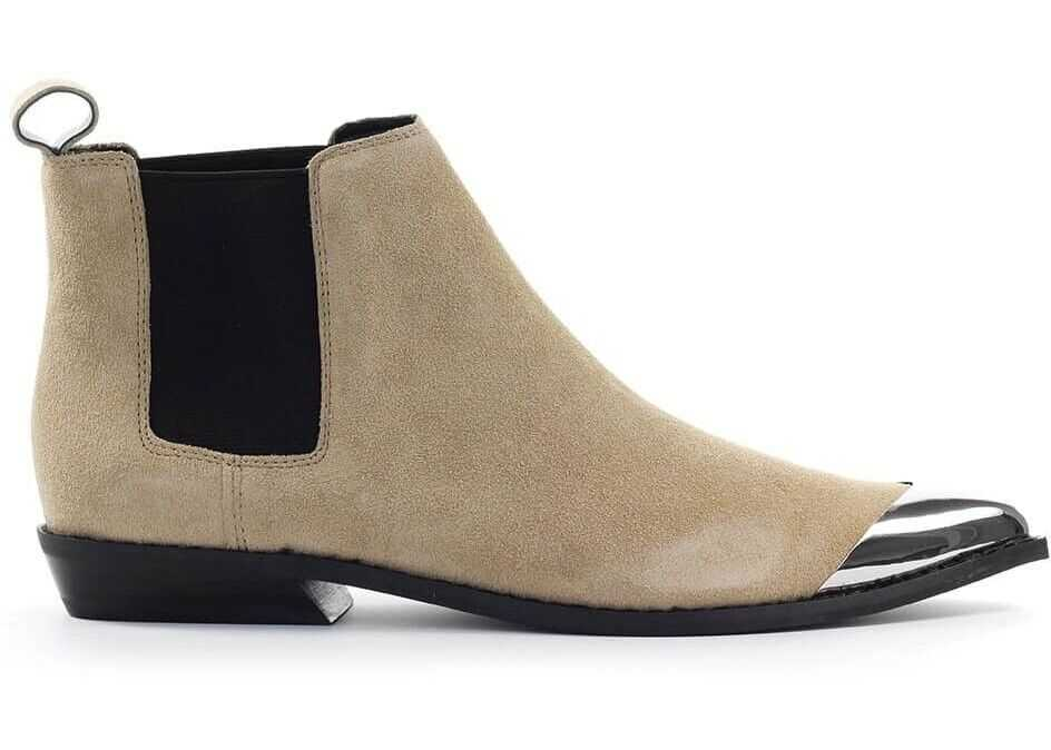 Calvin Klein Jeans Suede Ankle Boots BEIGE