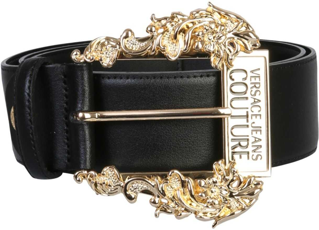 Versace Jeans Couture Belt With Logo BLACK