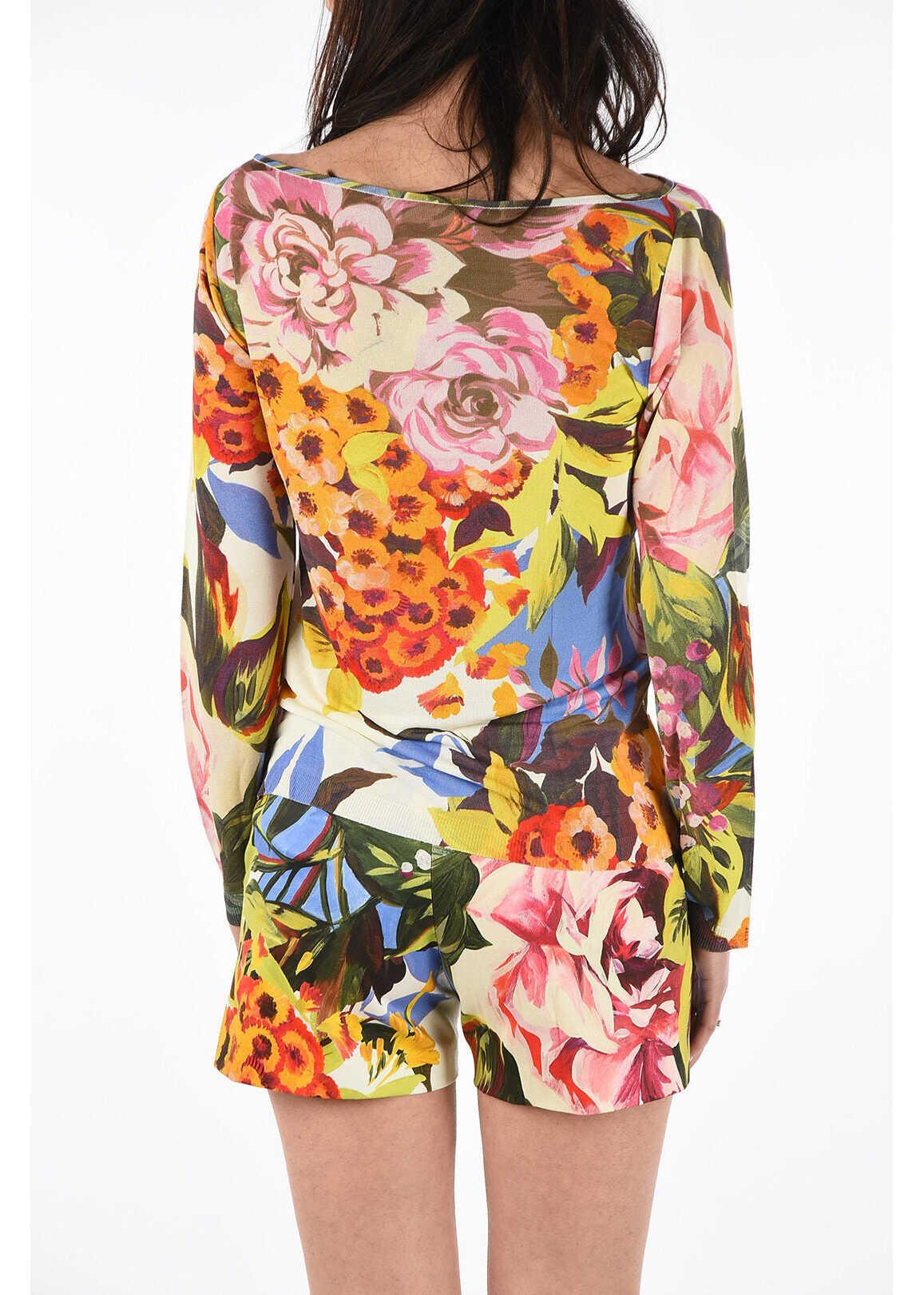 Blumarine BLUGIRL floral-print light sweater MULTICOLOR
