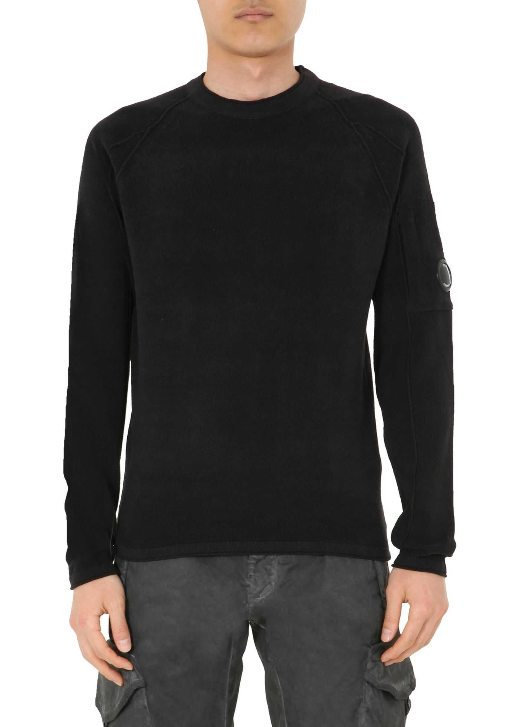 C.P. COMPANY Crew Neck Sweater BLACK