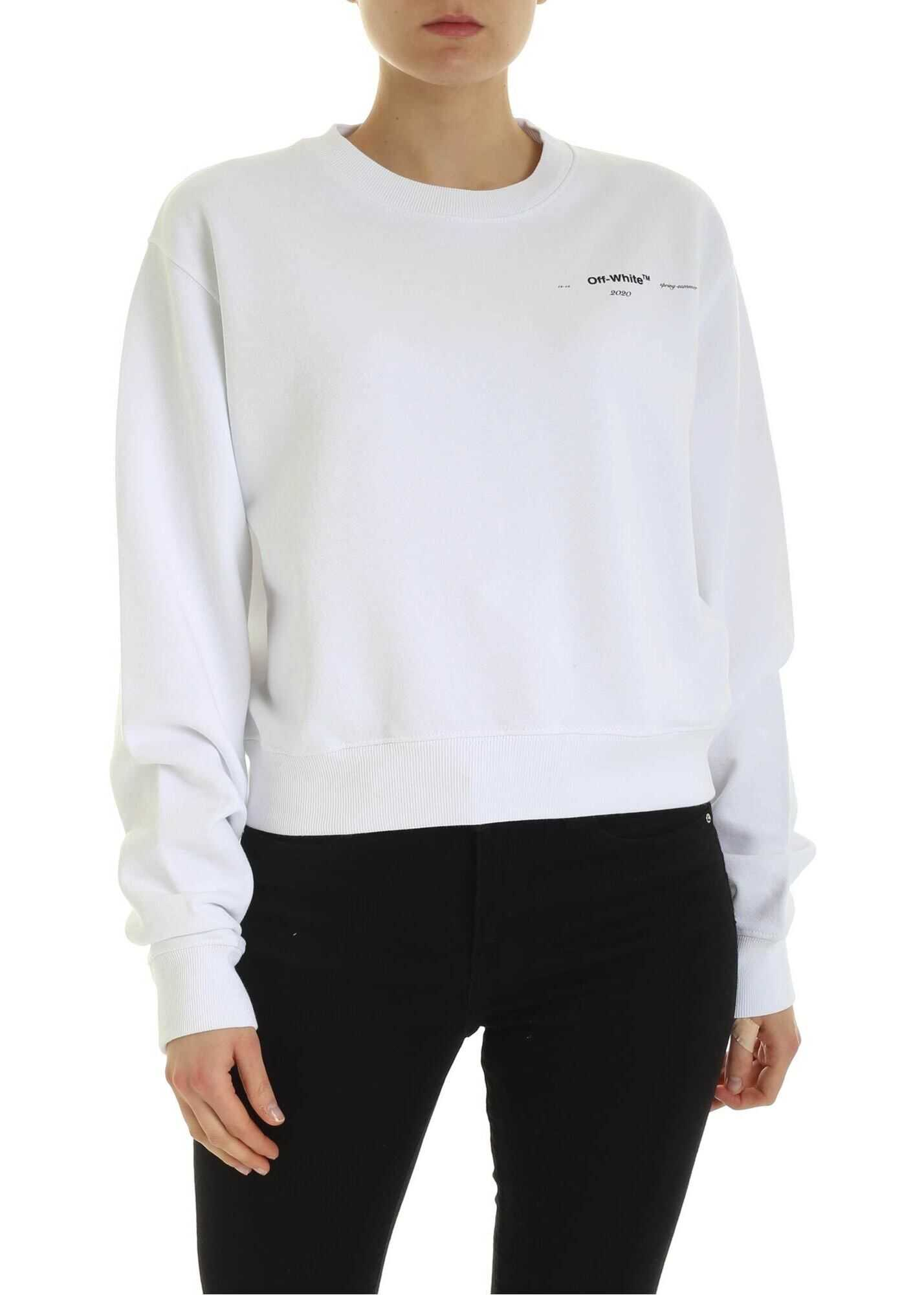 Off-White Arrow Puzzle Sweatshirt In White White
