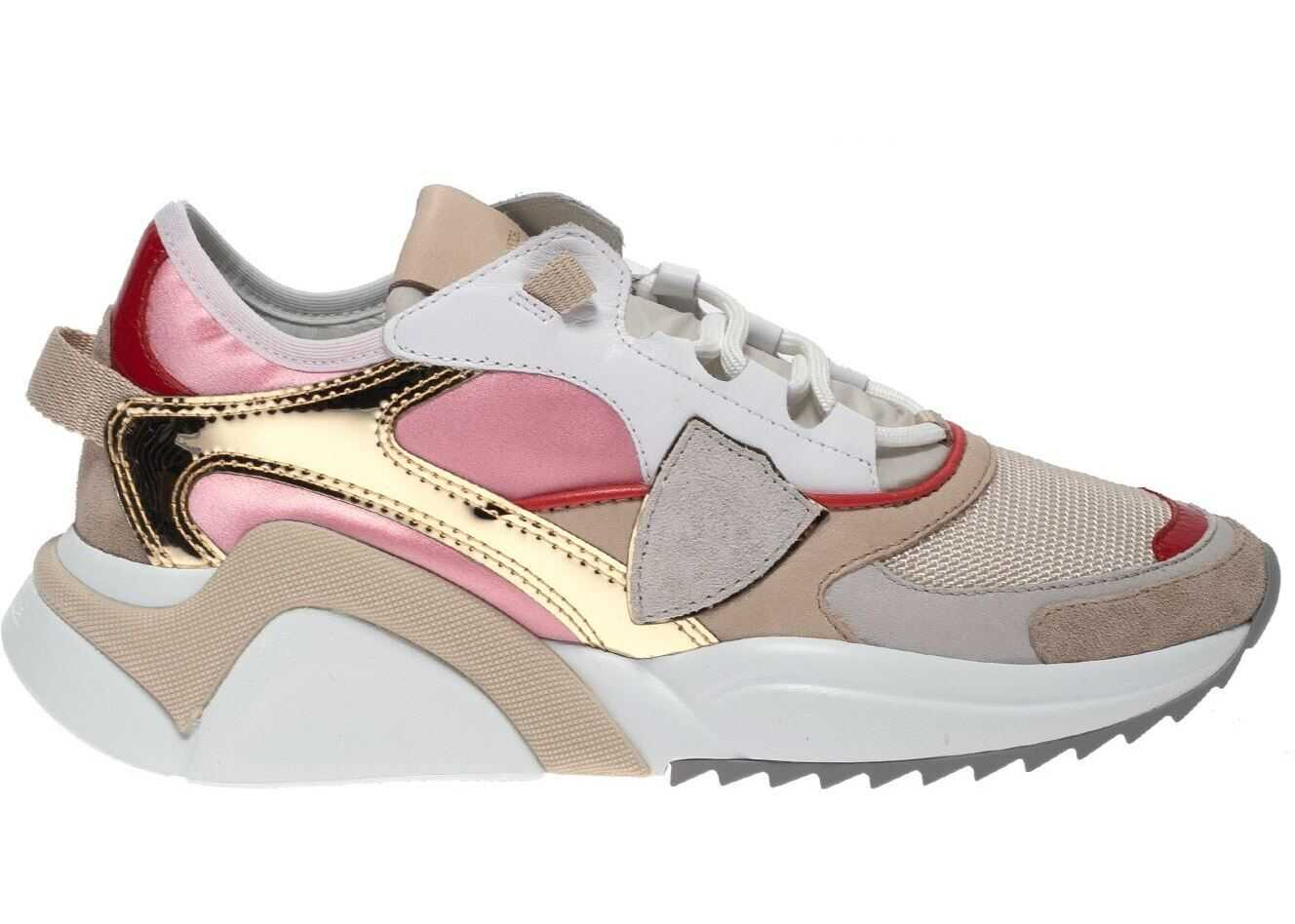 Philippe Model Eze Sneakers In Beige With Satin Details Beige