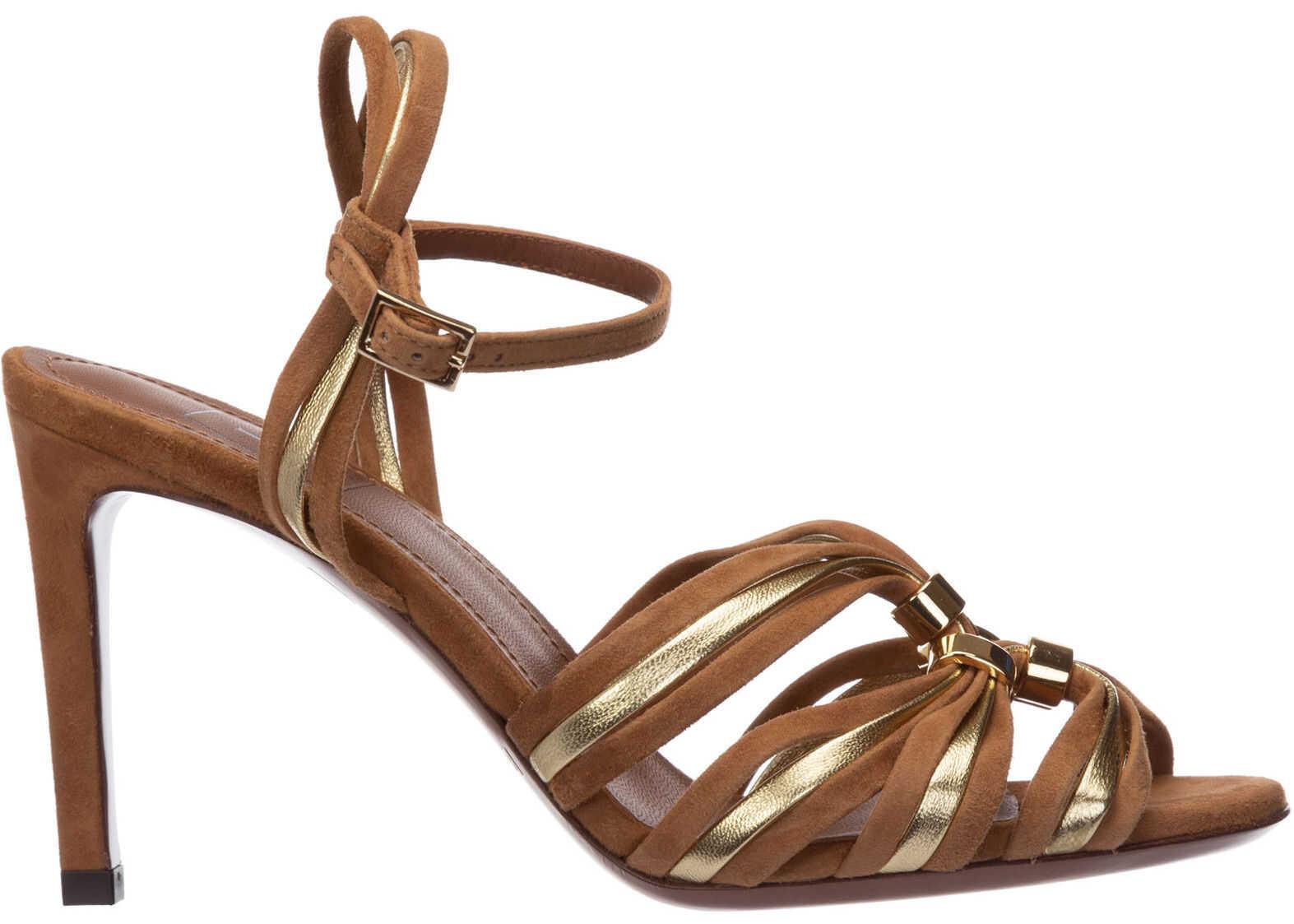 L'Autre Chose Heel Sandals LDL021.85CP2930G570 Brown imagine b-mall.ro
