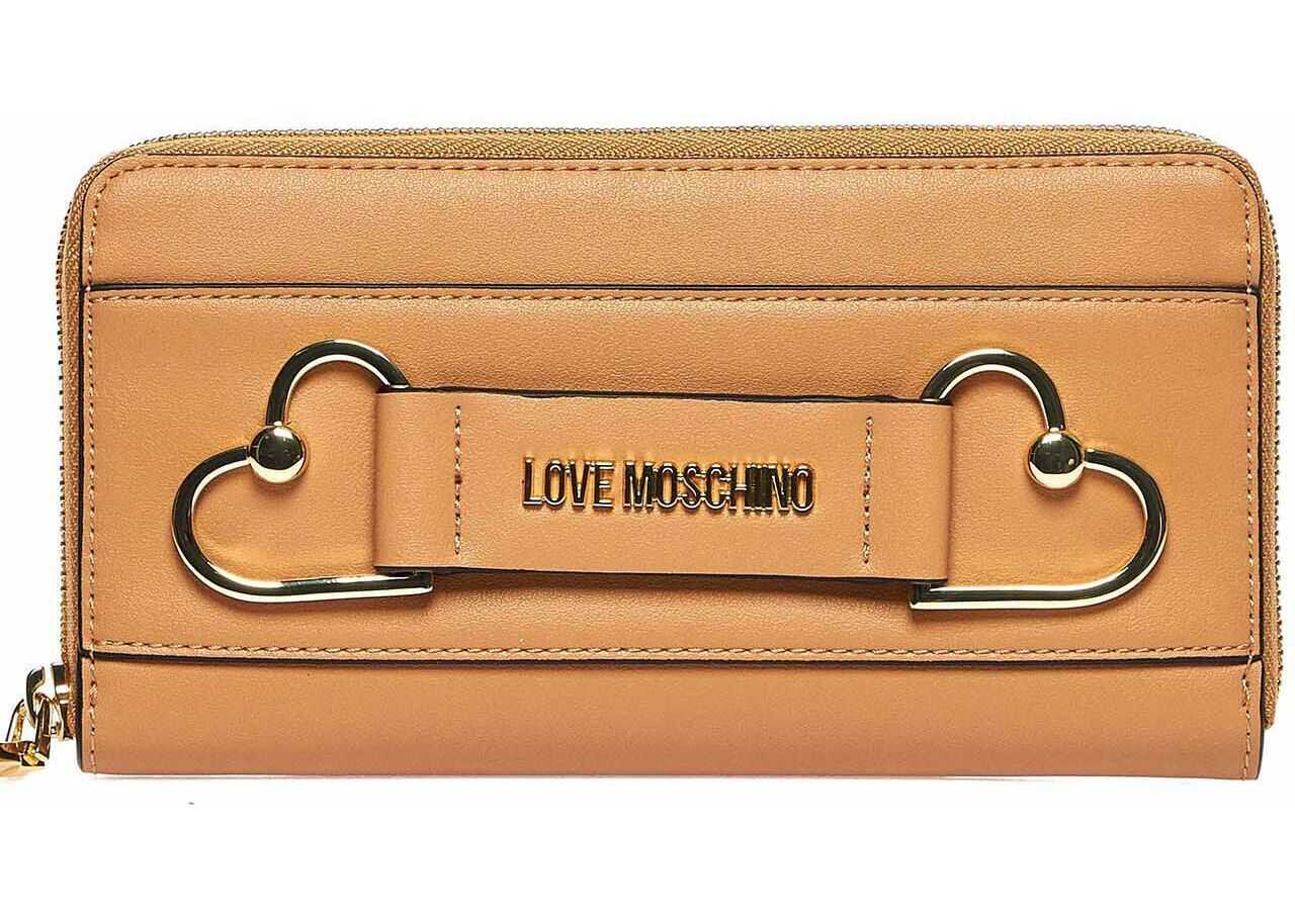 LOVE Moschino Wallet with logo Brown