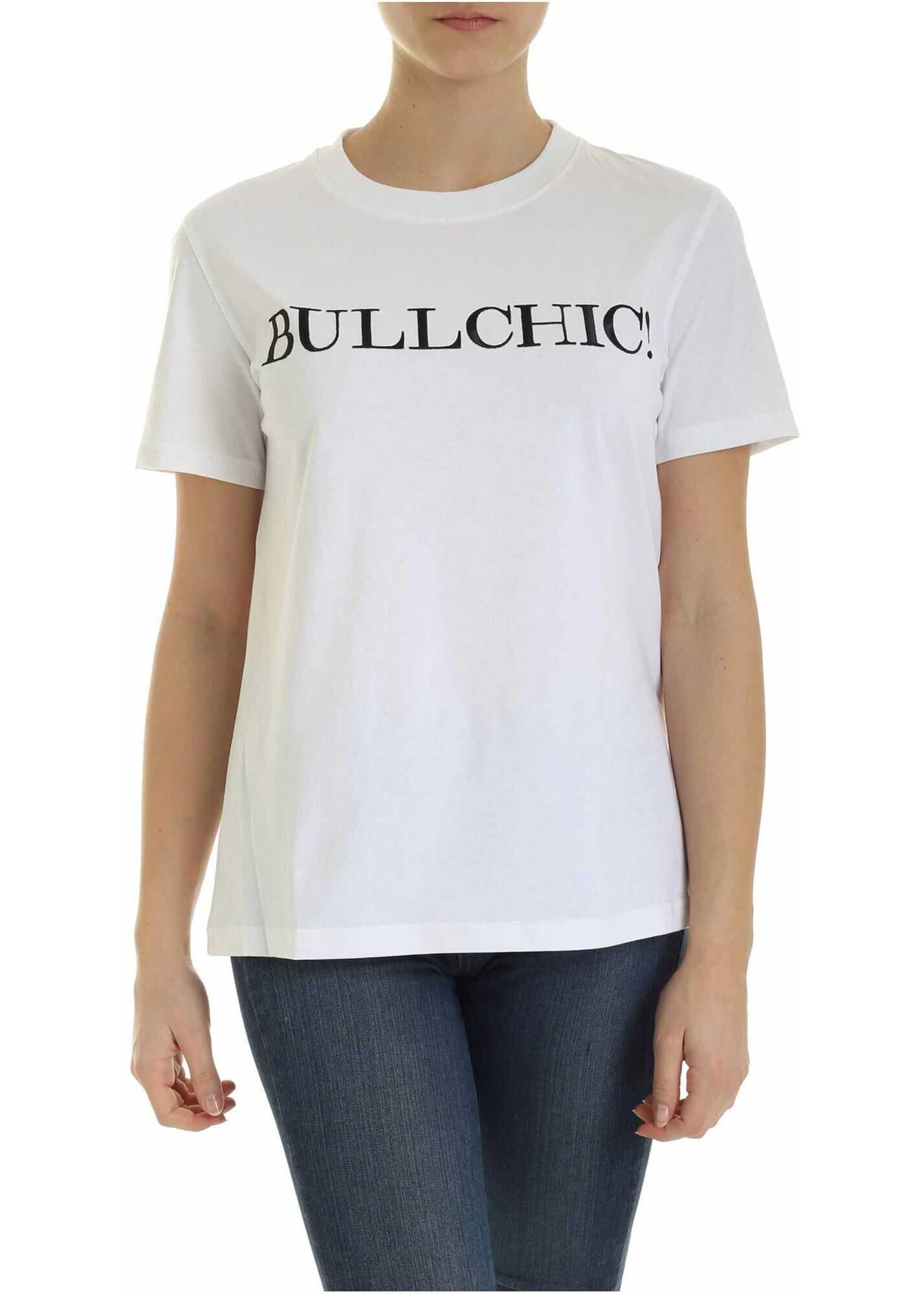 Moschino Bullchic T-Shirt In White White