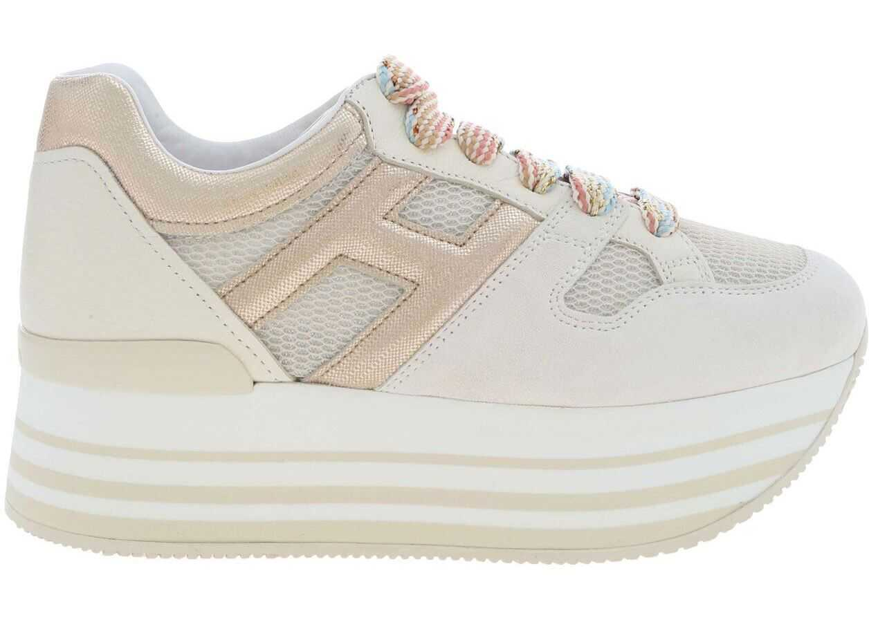 Hogan H283 Maxi Sneakers In Beige Beige