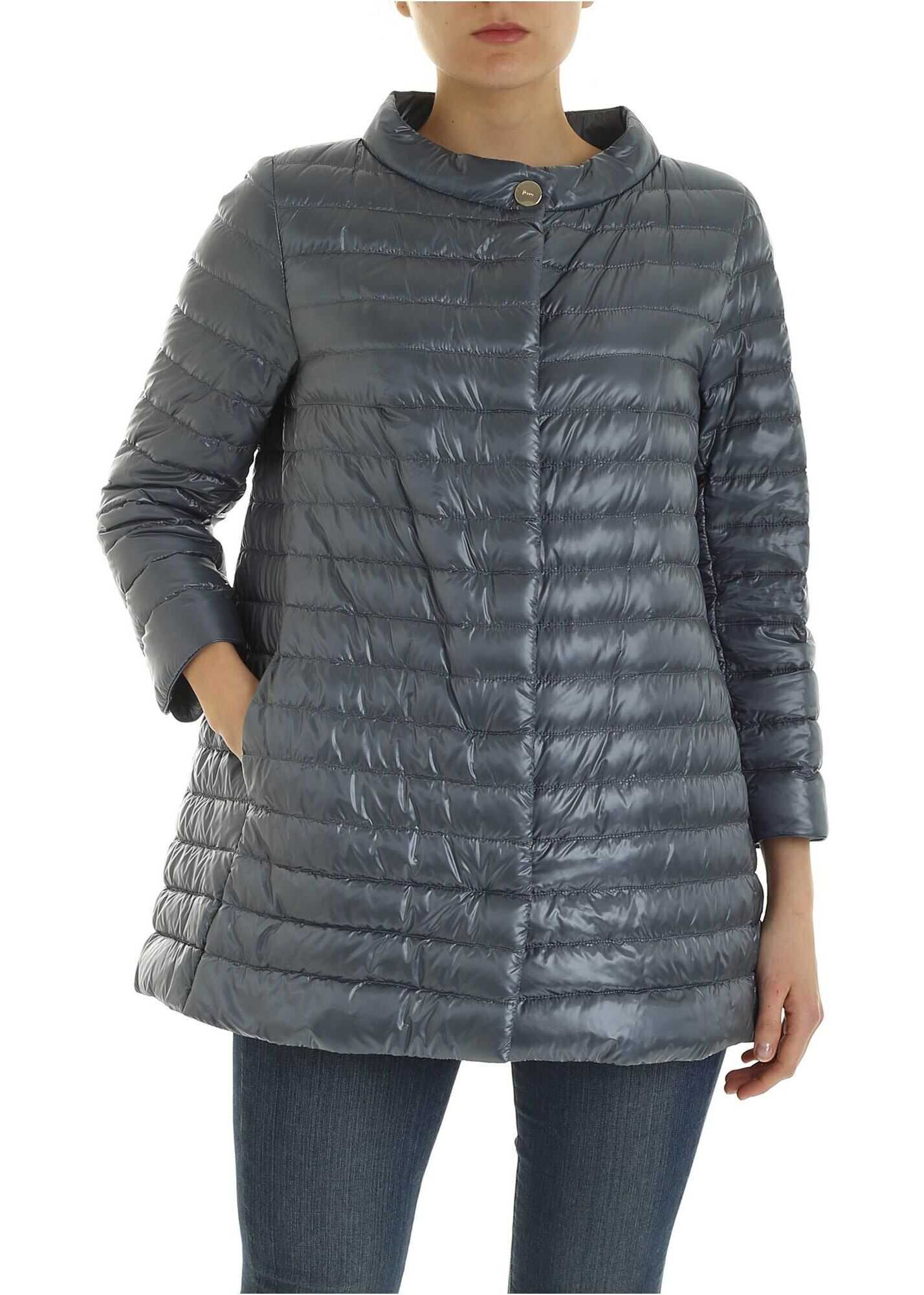 Herno Rossella Down Jacket In Light Blue Light Blue