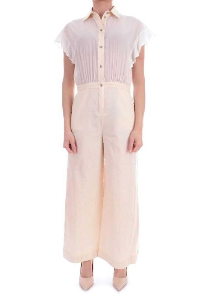 Pinko Cotton Jumpsuit WHITE