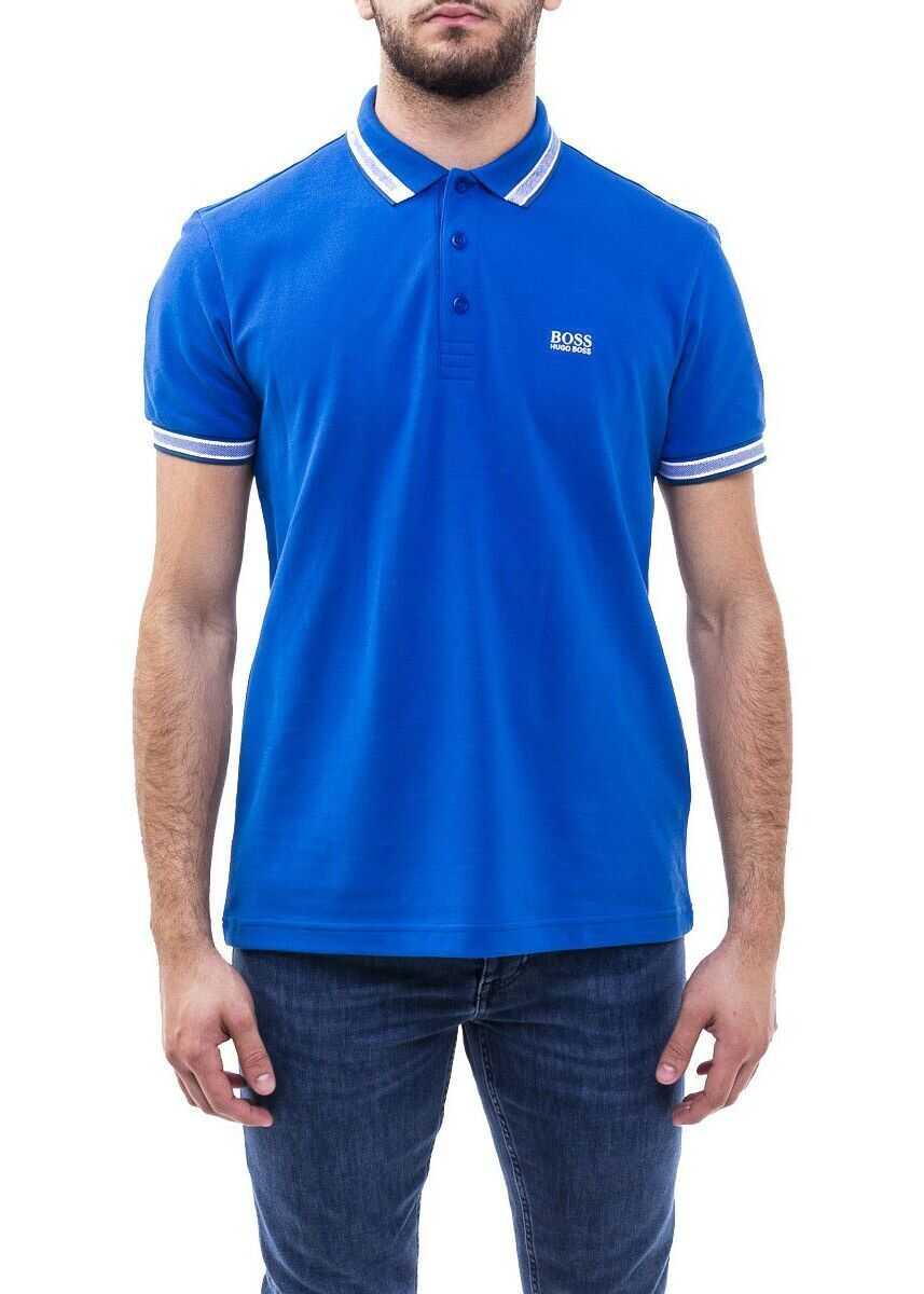 BOSS Hugo Boss Cotton Polo Shirt BLUE