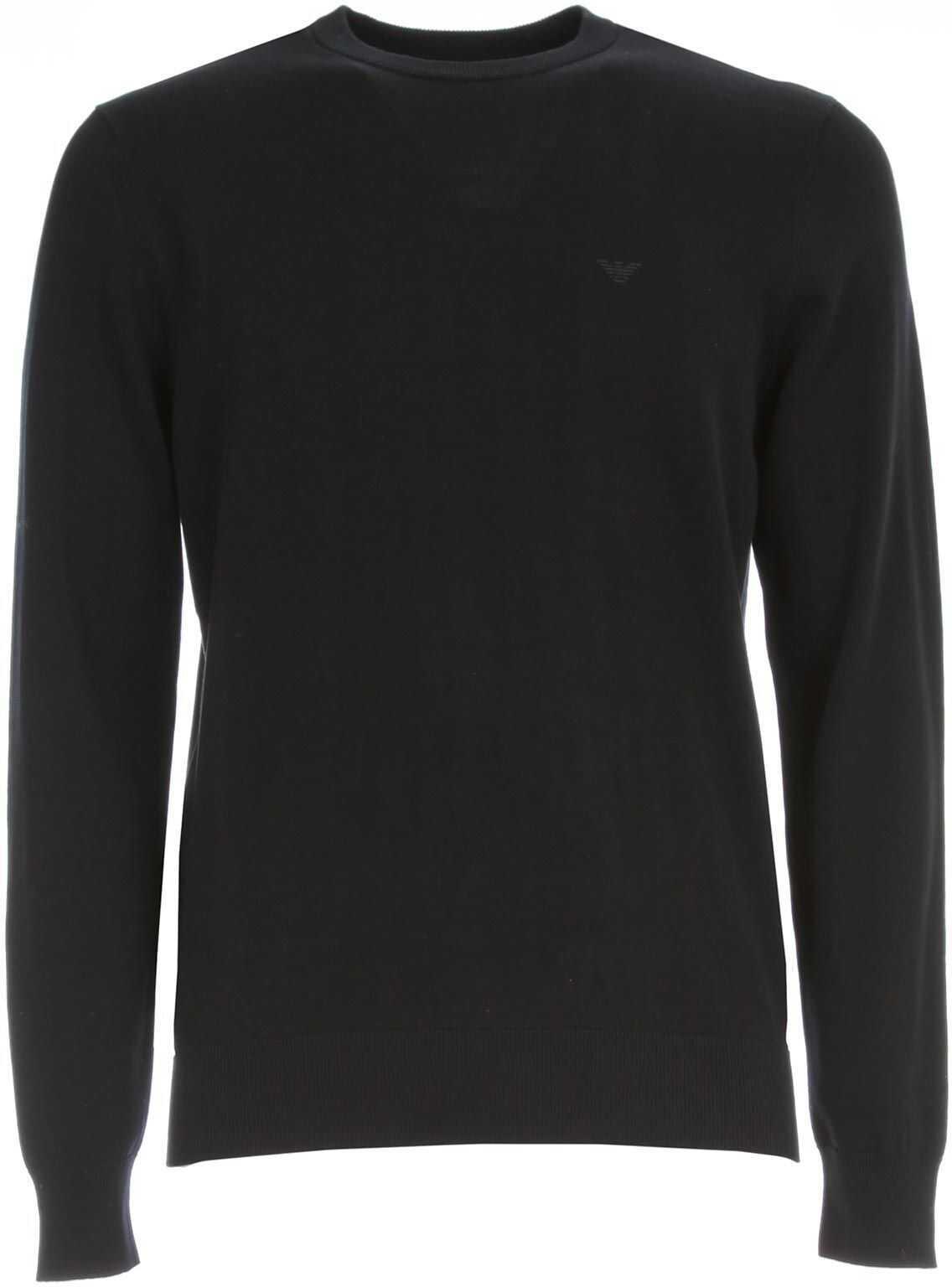 Emporio Armani Cotton Sweater BLUE
