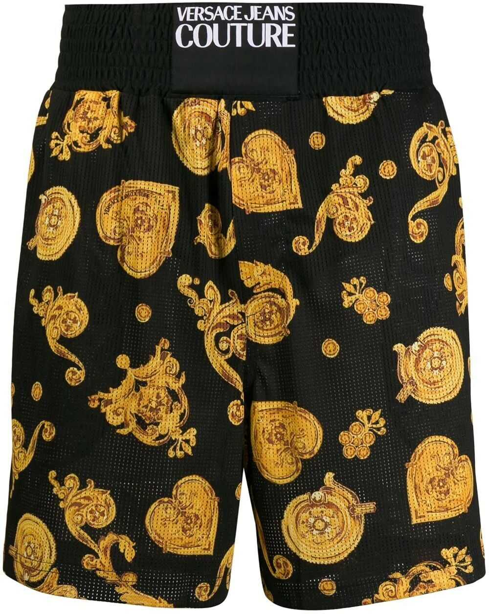 Versace Jeans Polyester Shorts BLACK