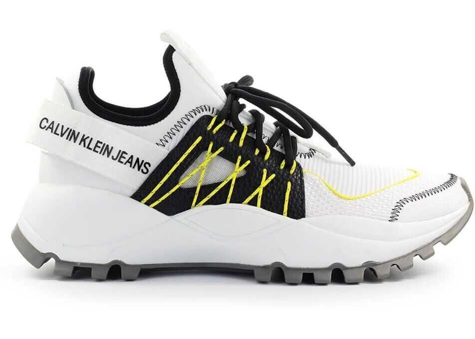 Calvin Klein Jeans Fabric Sneakers WHITE