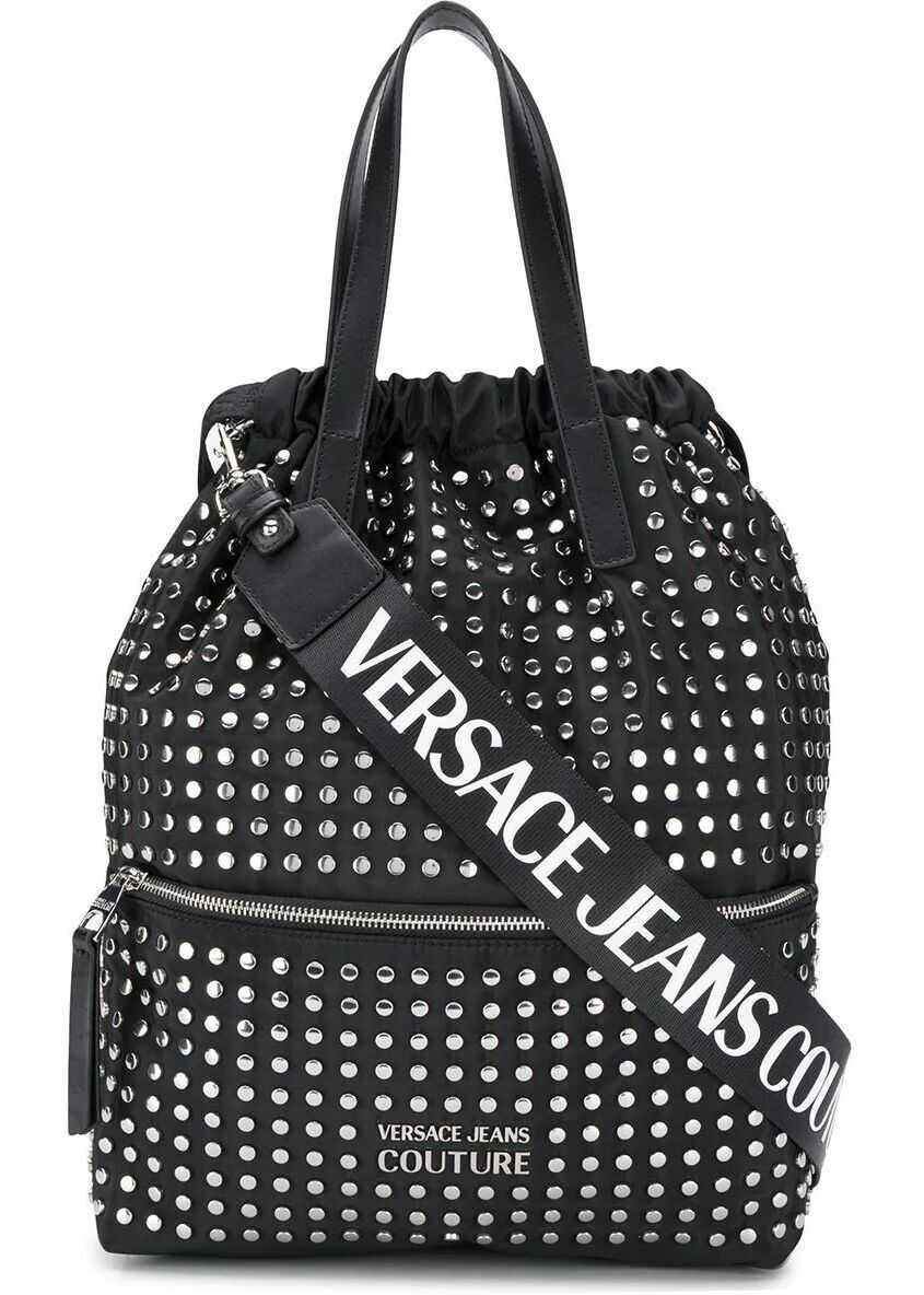 Versace Jeans Polyester Backpack BLACK