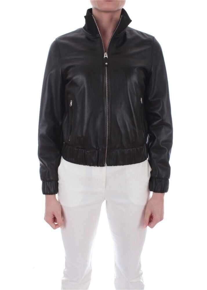 Calvin Klein Leather Outerwear Jacket BLACK