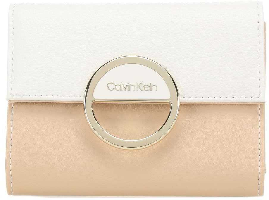 Calvin Klein Faux Leather Wallet BEIGE