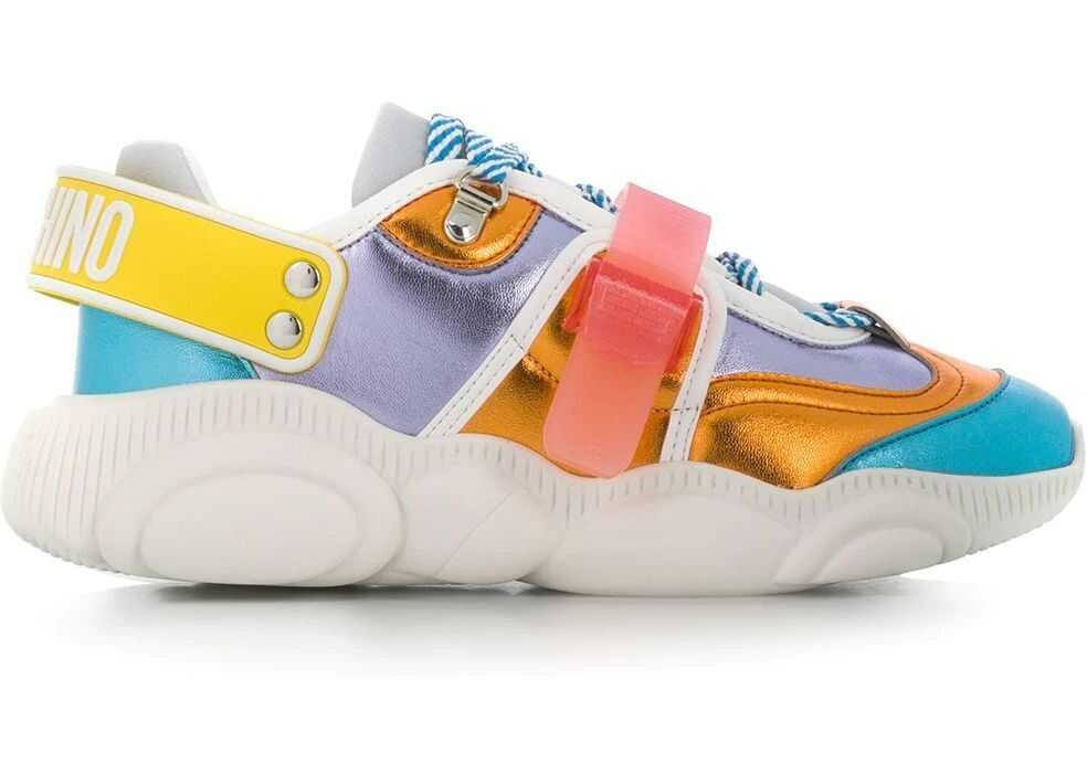 Moschino Leather Sneakers MULTICOLOR