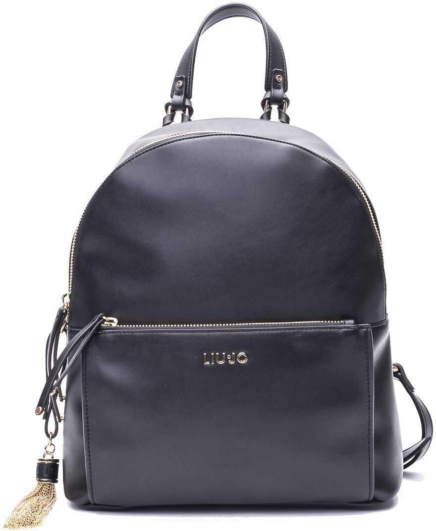 Liu Jo Polyester Backpack BLACK