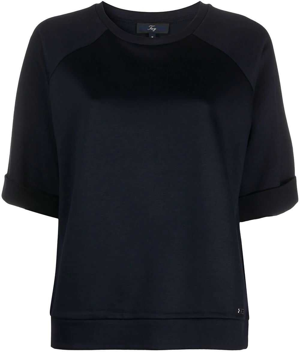 Fay Viscose Sweatshirt BLUE
