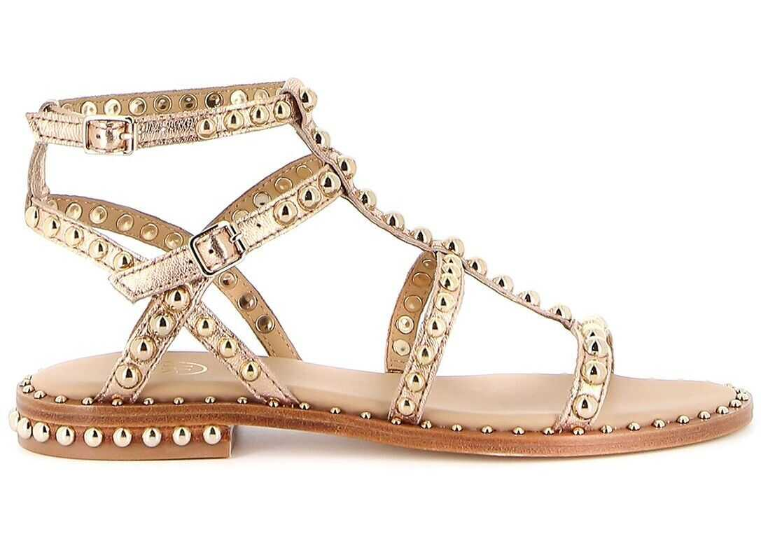 ASH Leather Sandals GOLD