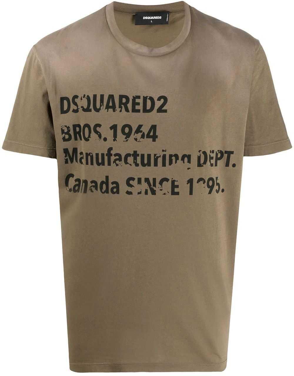 DSQUARED2 Cotton T-Shirt GREEN