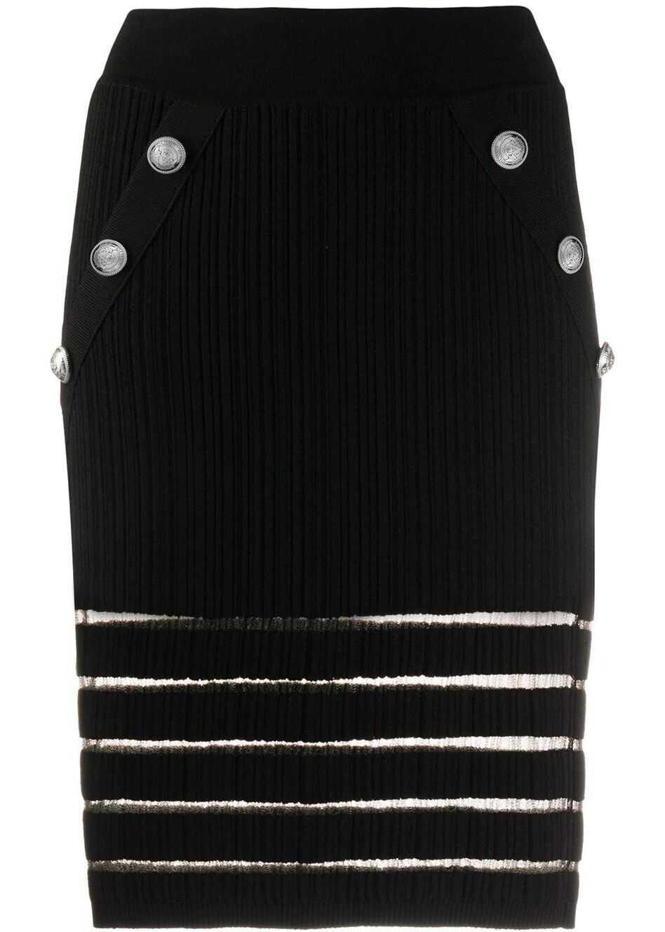 Balmain Viscose Skirt BLACK