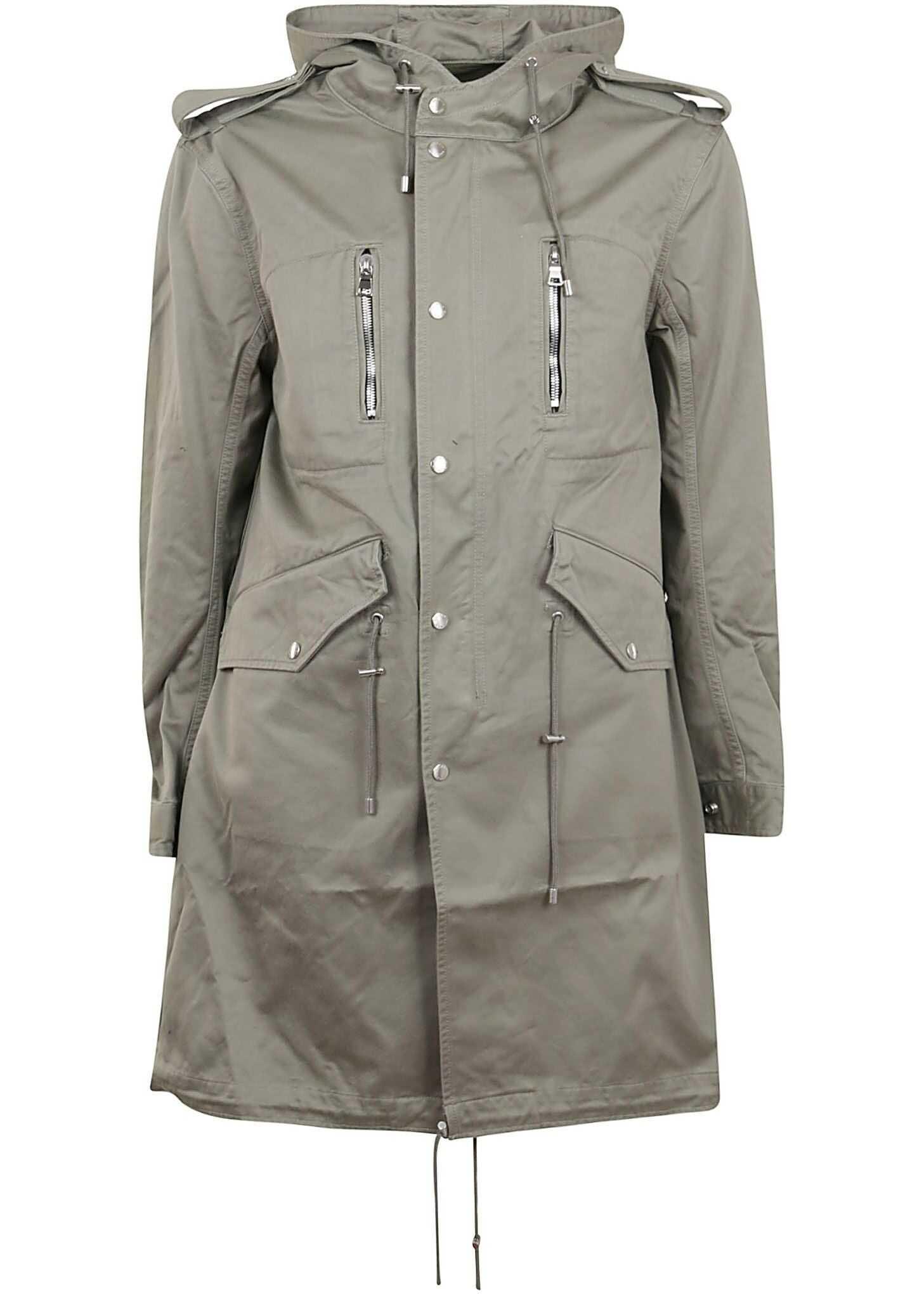 Balmain Cotton Coat GREY