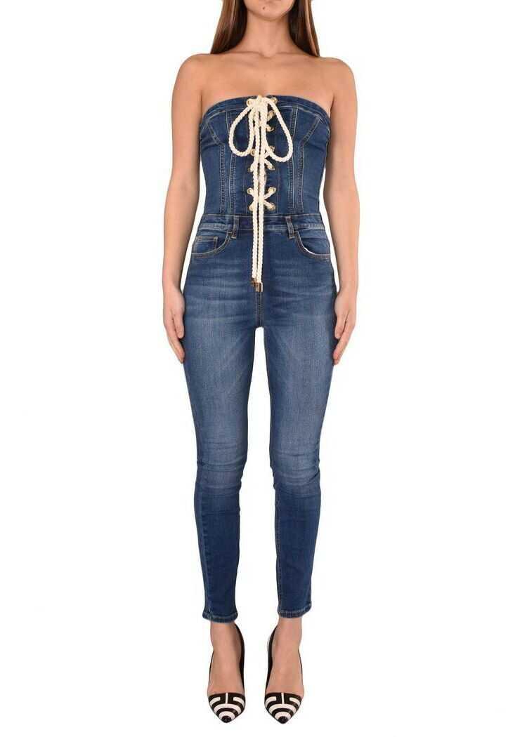 Elisabetta Franchi Cotton Jumpsuit BLUE