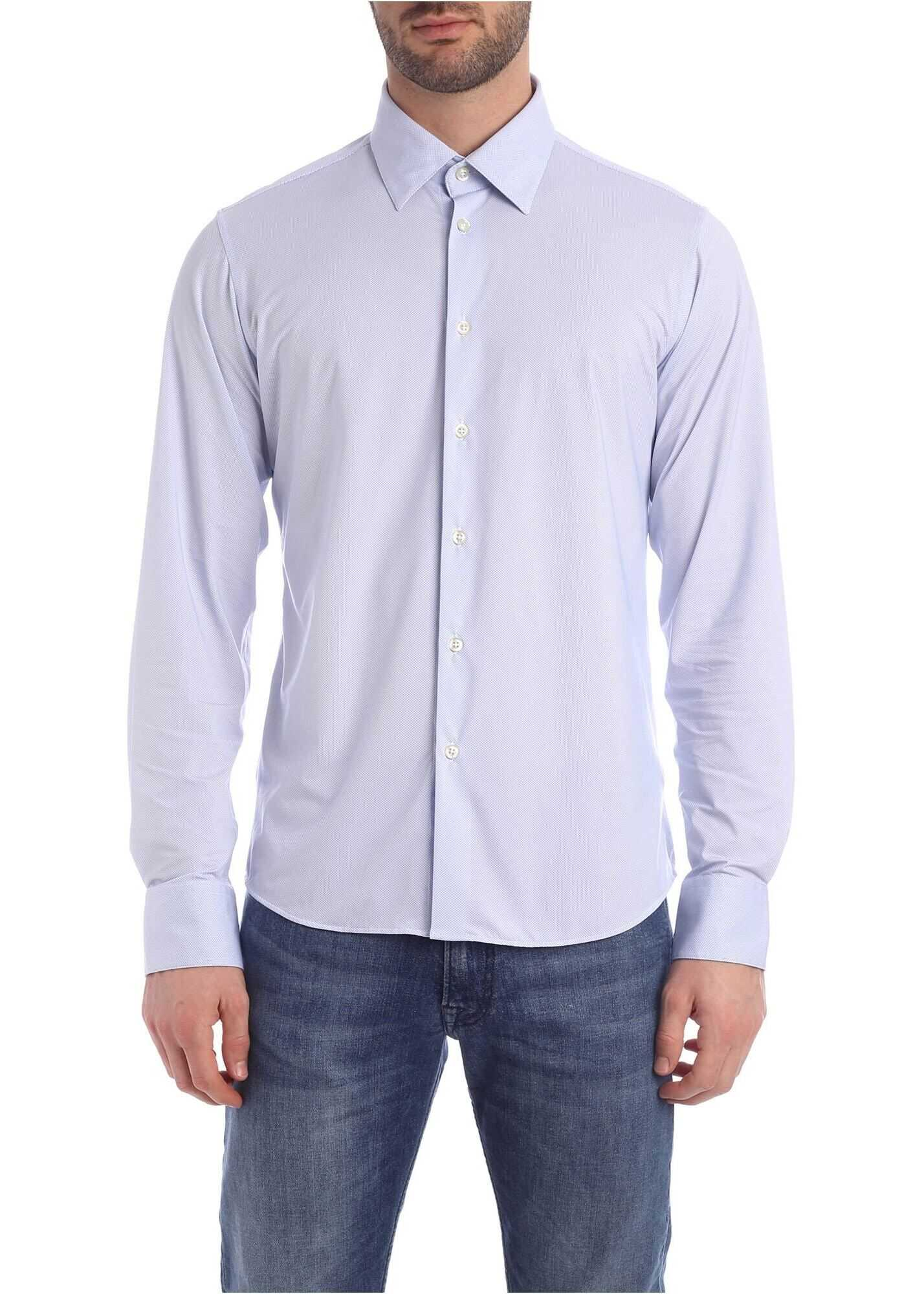 RRD Roberto Ricci Designs Oxford Jacquard Shirt In Light Blue Light Blue imagine