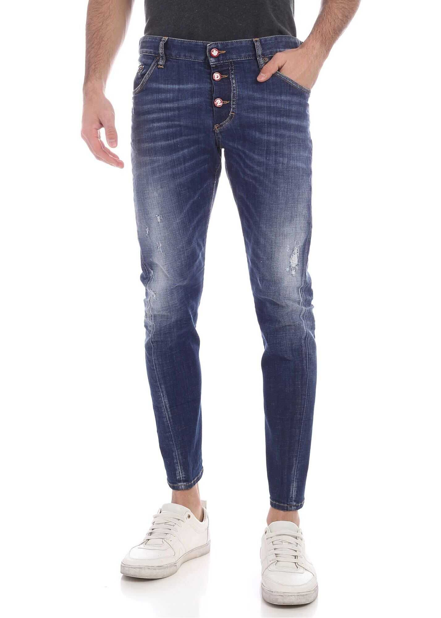 DSQUARED2 Sexy Twist Jeans In Faded Blue Blue