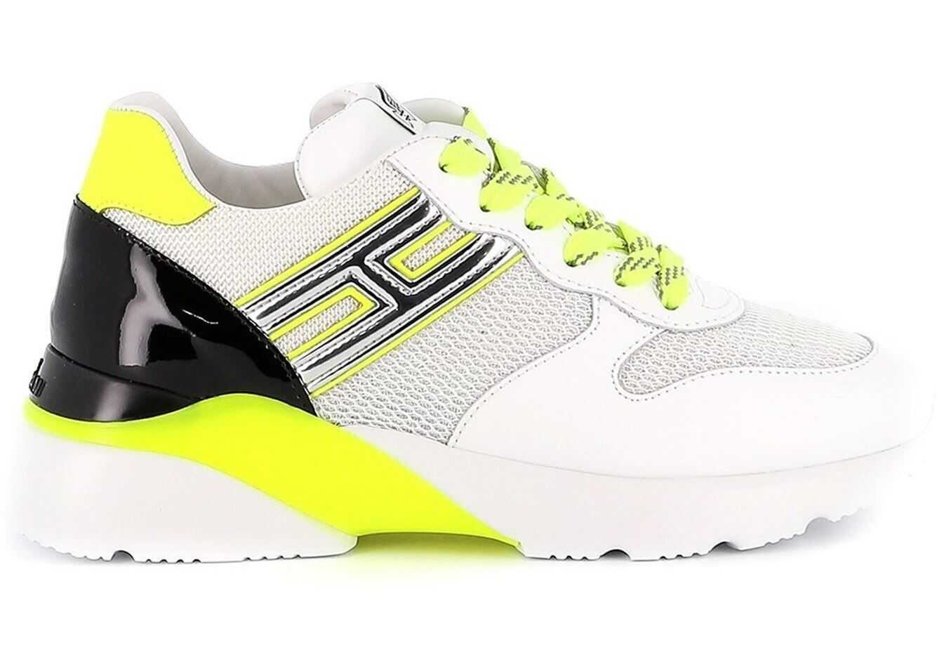 Hogan Active One Neon Detailed Sneakers White